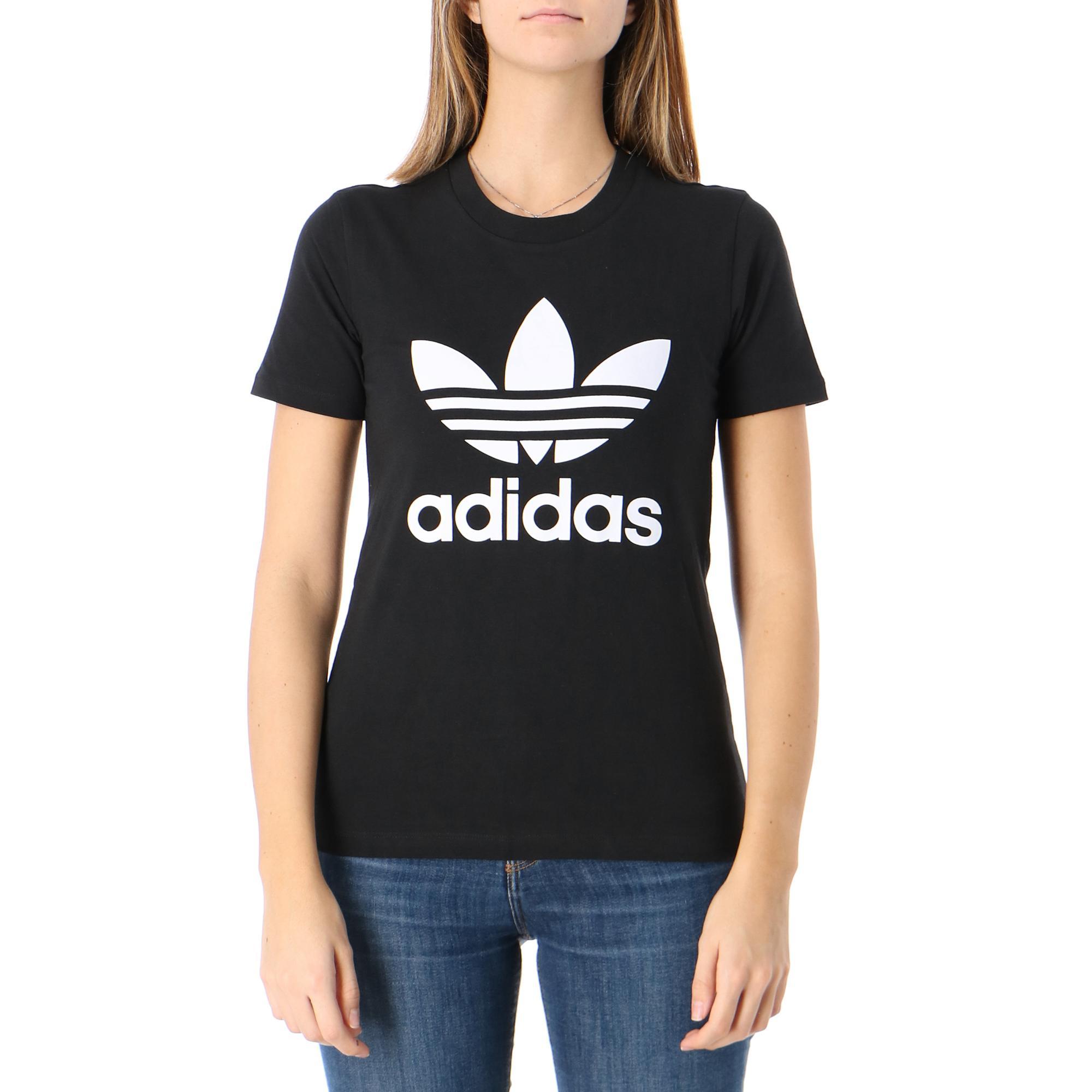 Adidas Trefoil Tee Black white