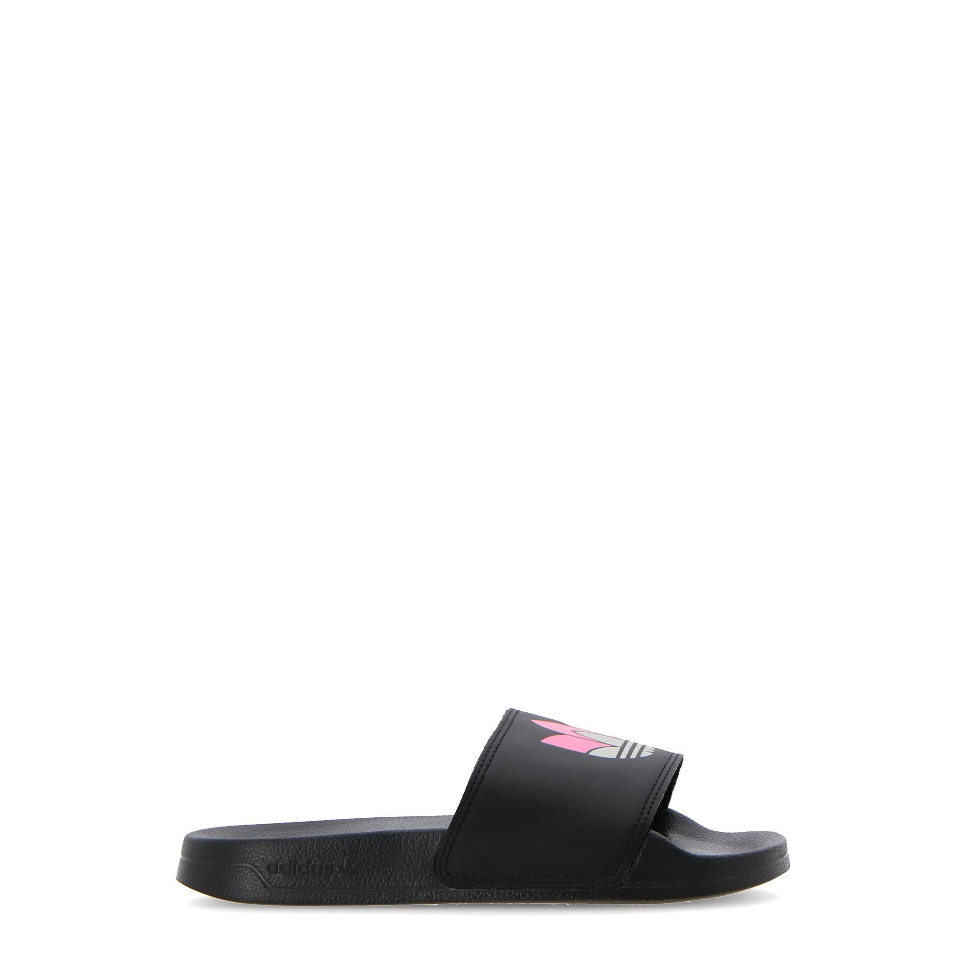 Adidas Adilette Lite W Core black grey two shock pink