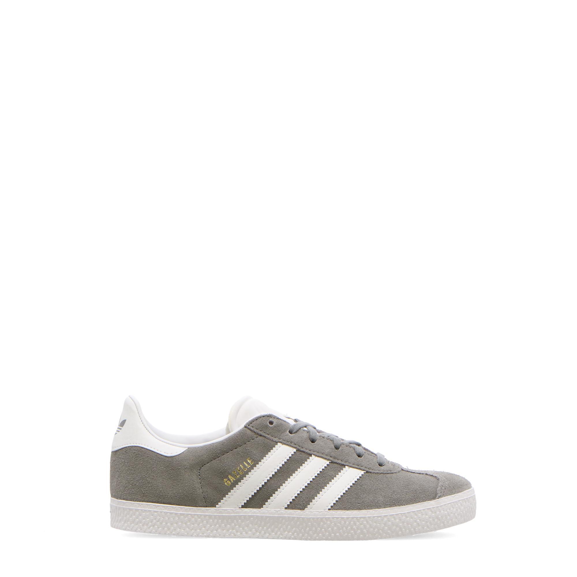 Adidas Gazelle J Grey three white gold met