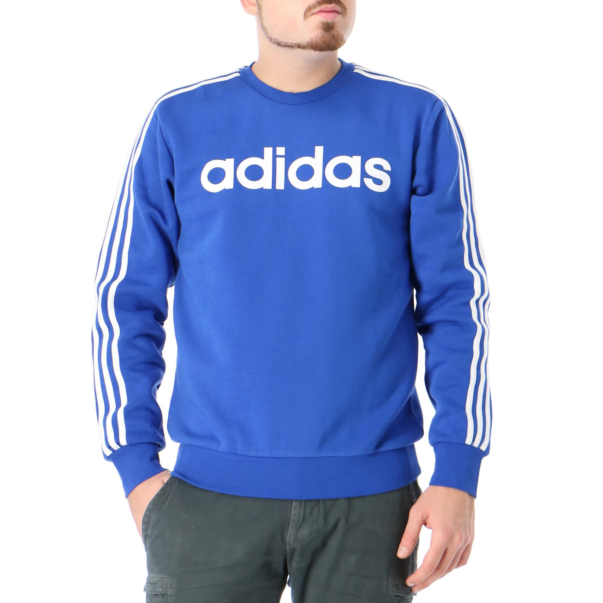 Adidas E 3s Crew Fl Team royal blue white