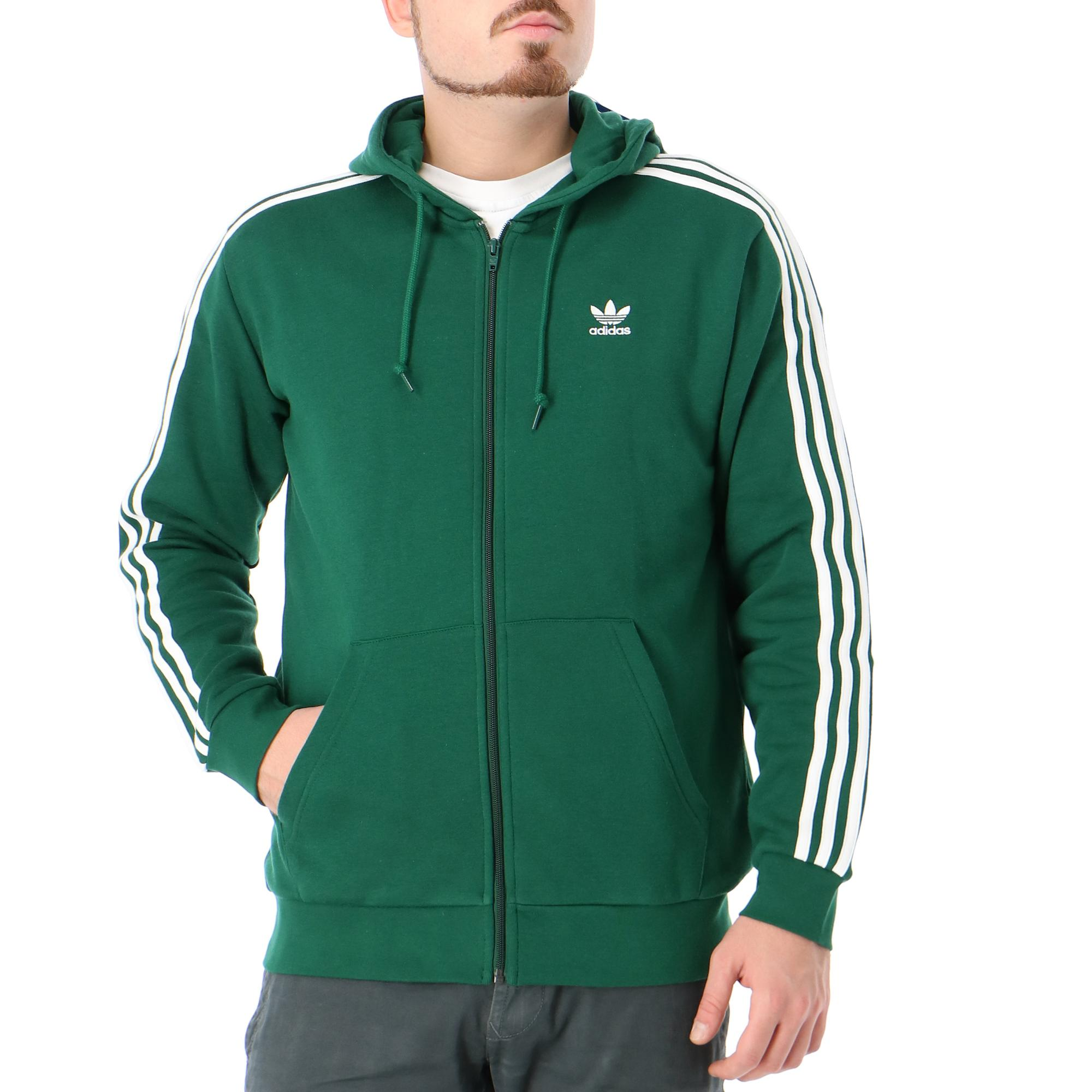 Adidas 3-stripes Fz DARK GREEN