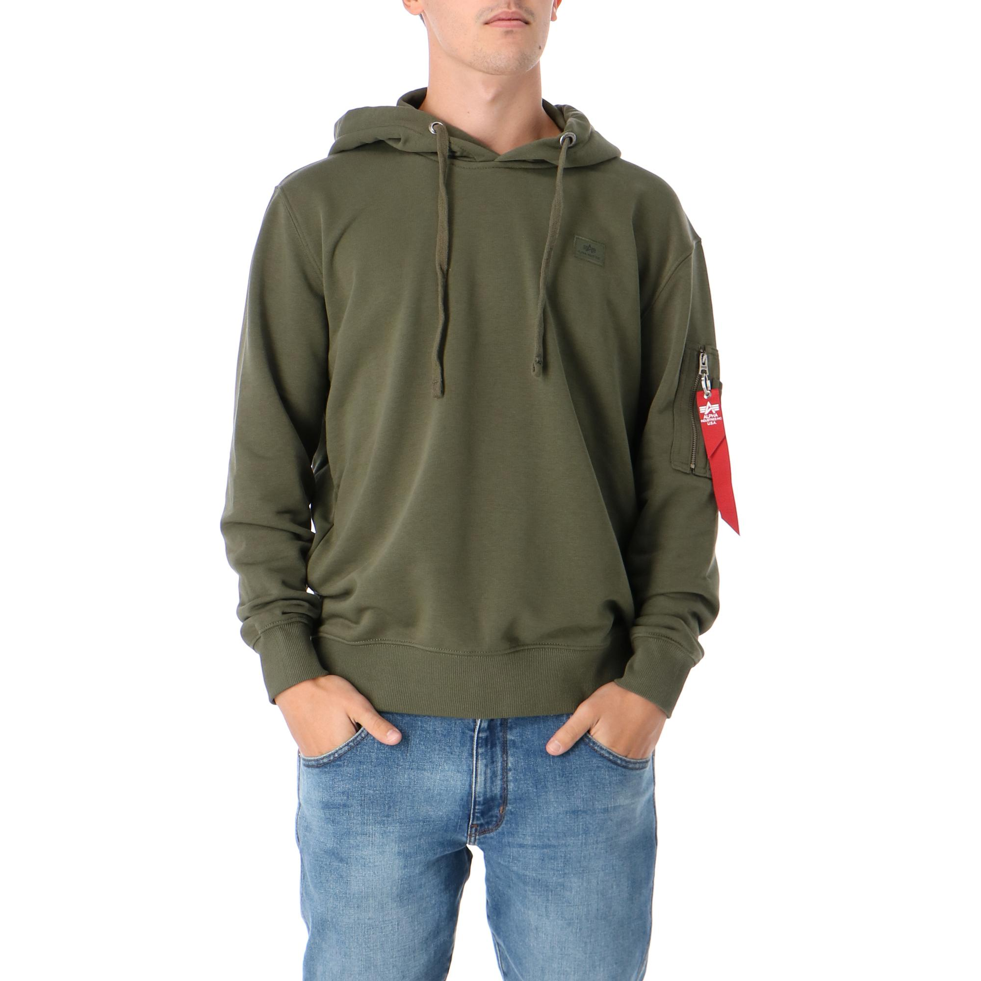 Alpha Industries X Fit Hoody DARK GREEN