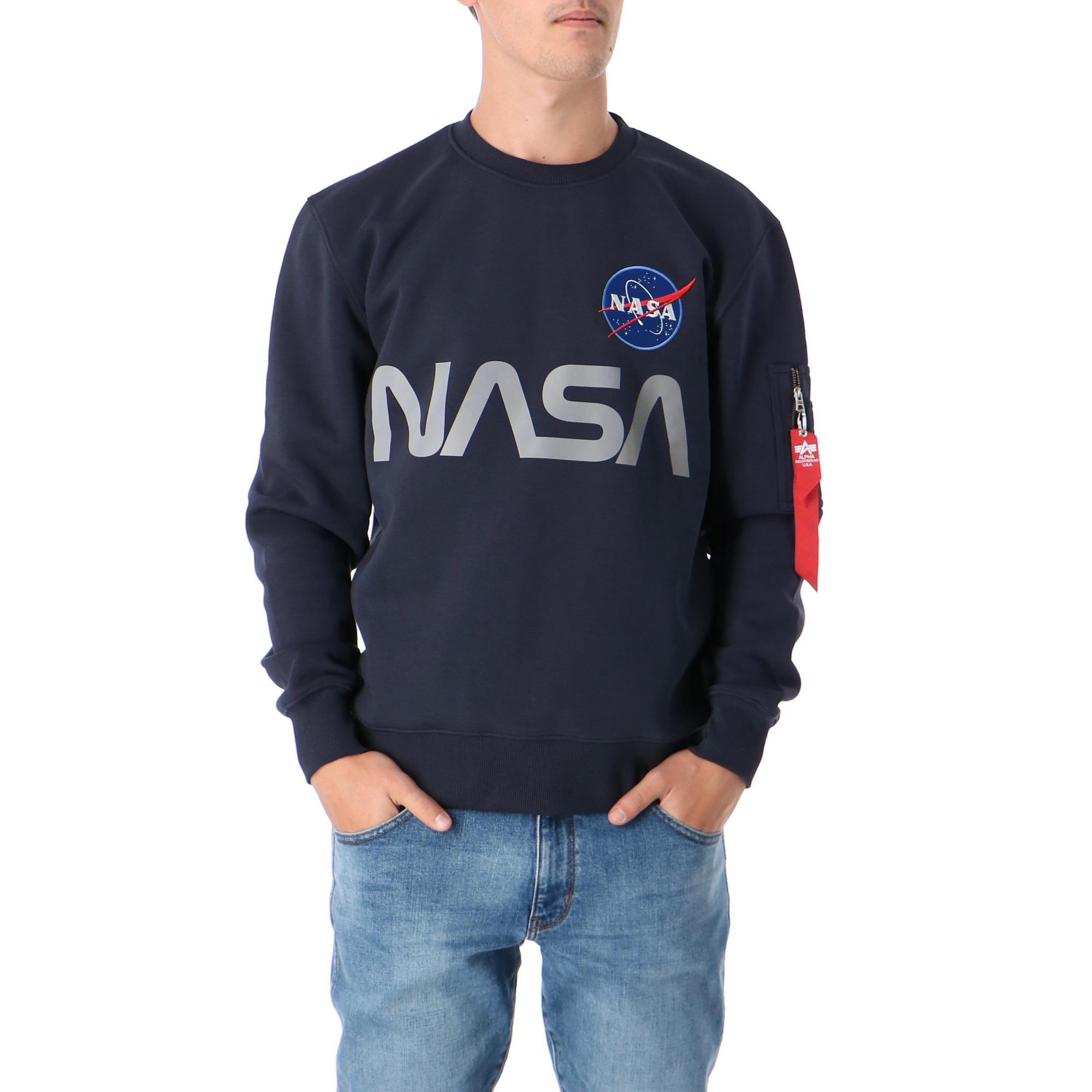 Alpha Industries Nasa Reflective Sweater Replica blue