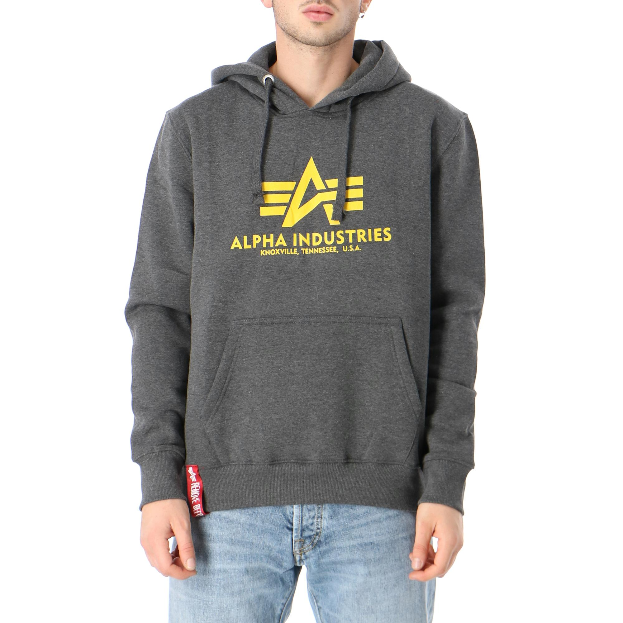 Alpha Industries Basic Hoody Charcoal heather