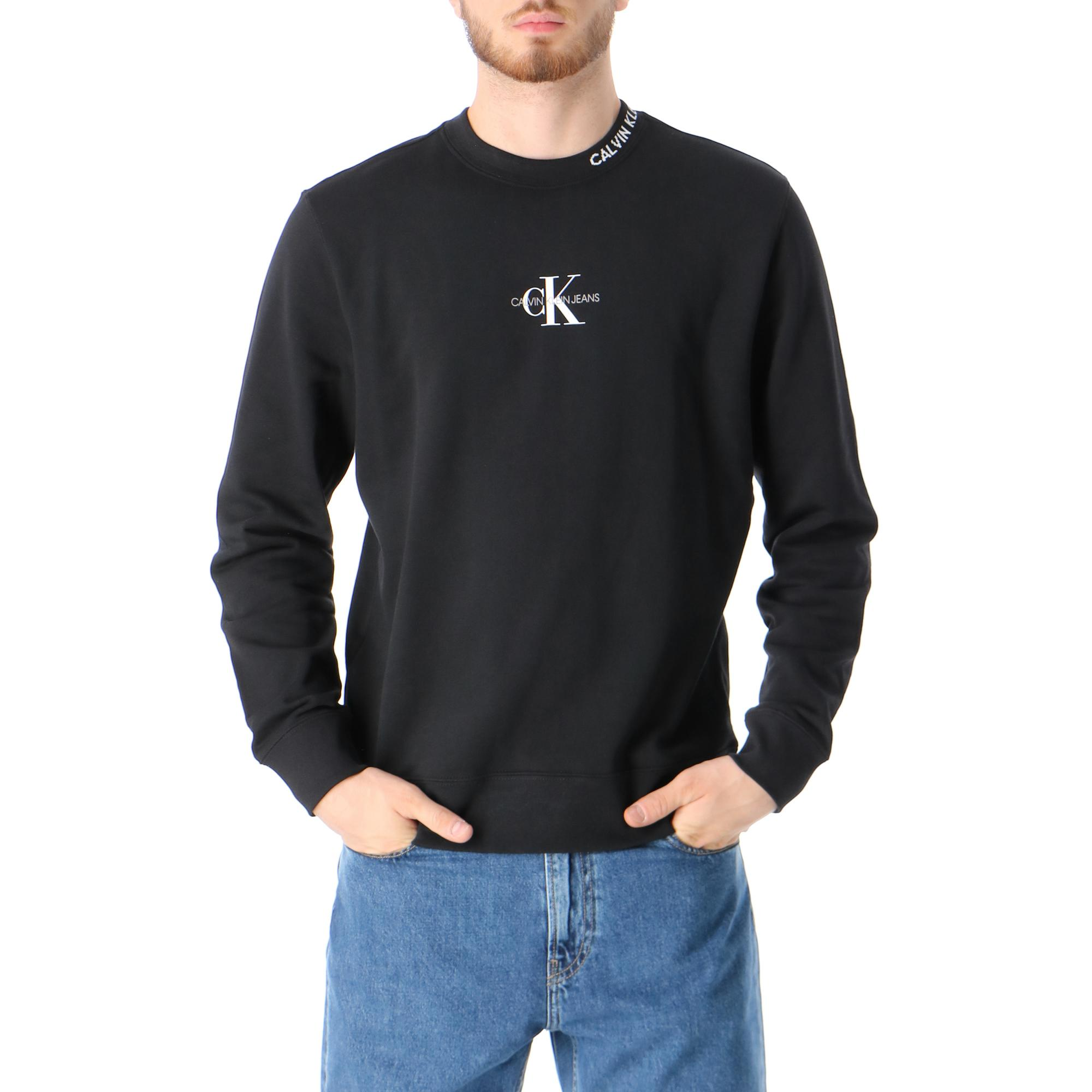 Calvin Klein Center Monogram Crew Neck CK BLACK