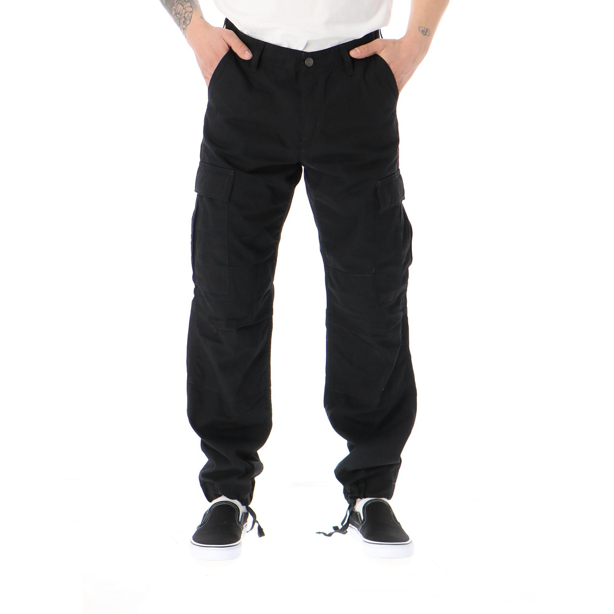 Carhartt Regular Cargo Pant Black rinsed