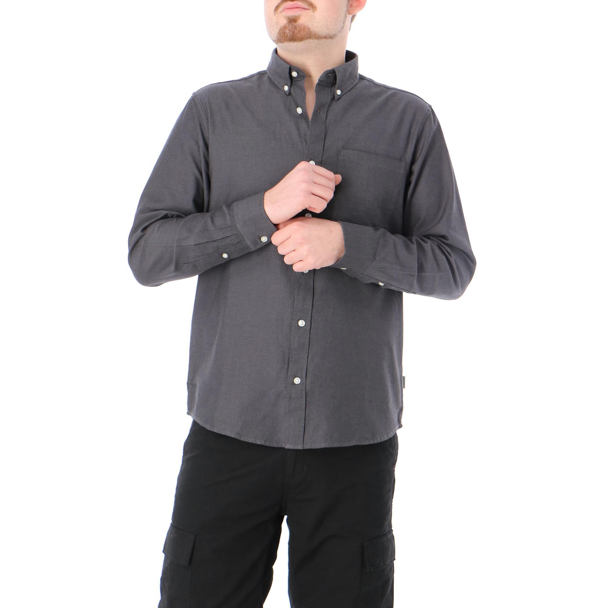 Carhartt L/s Dalton Shirt Black husky heavy rinsed