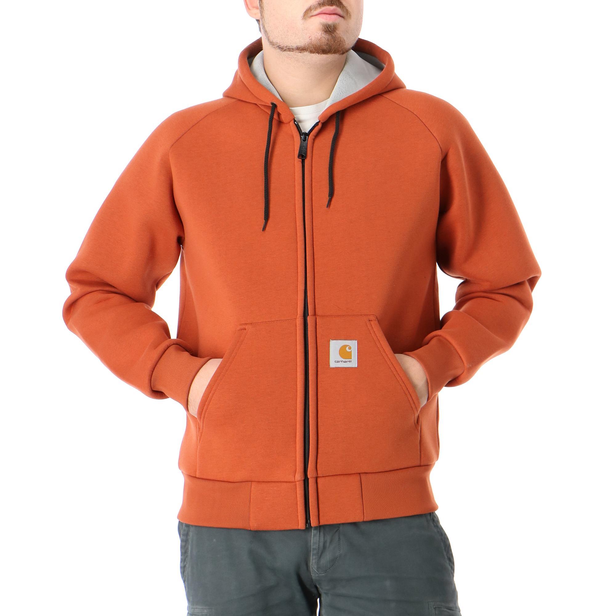 Carhartt Car-lux Hooded Jacket Cinnamon grey