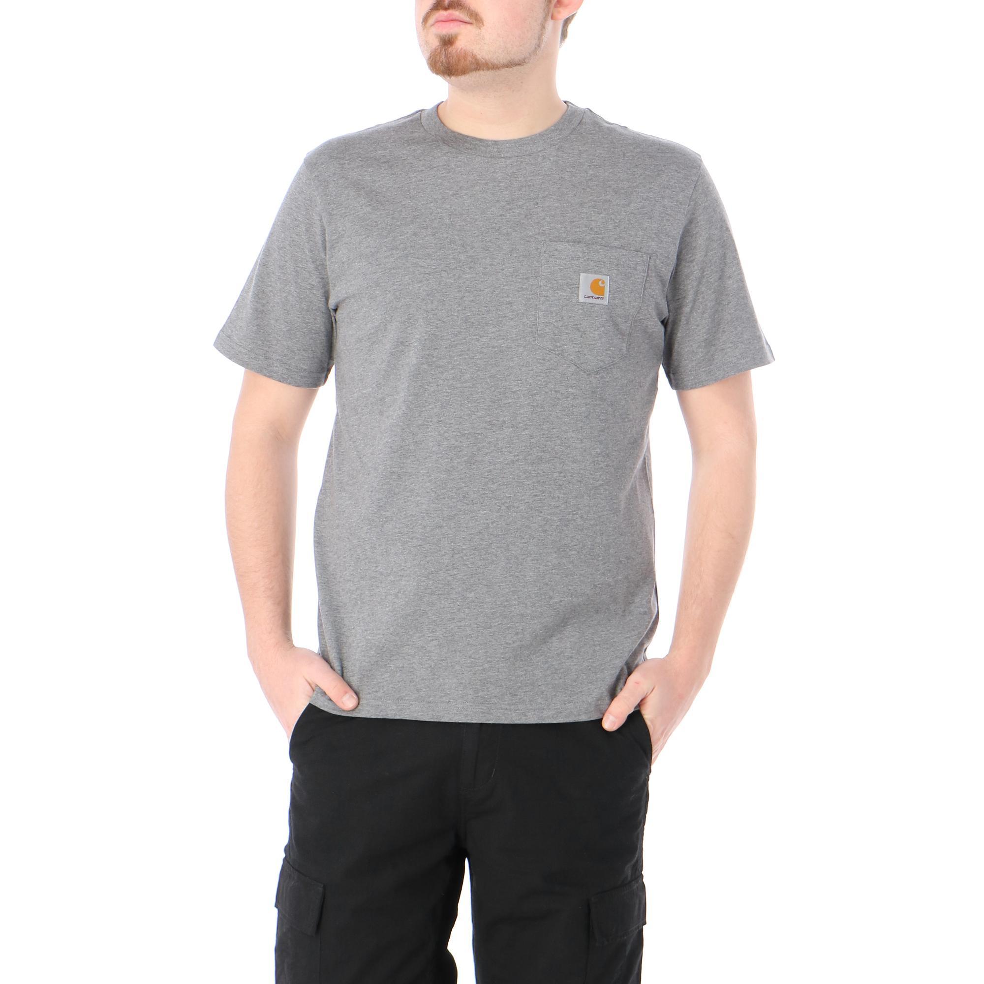 Carhartt S/s Pocket T-shirt Dark grey heather
