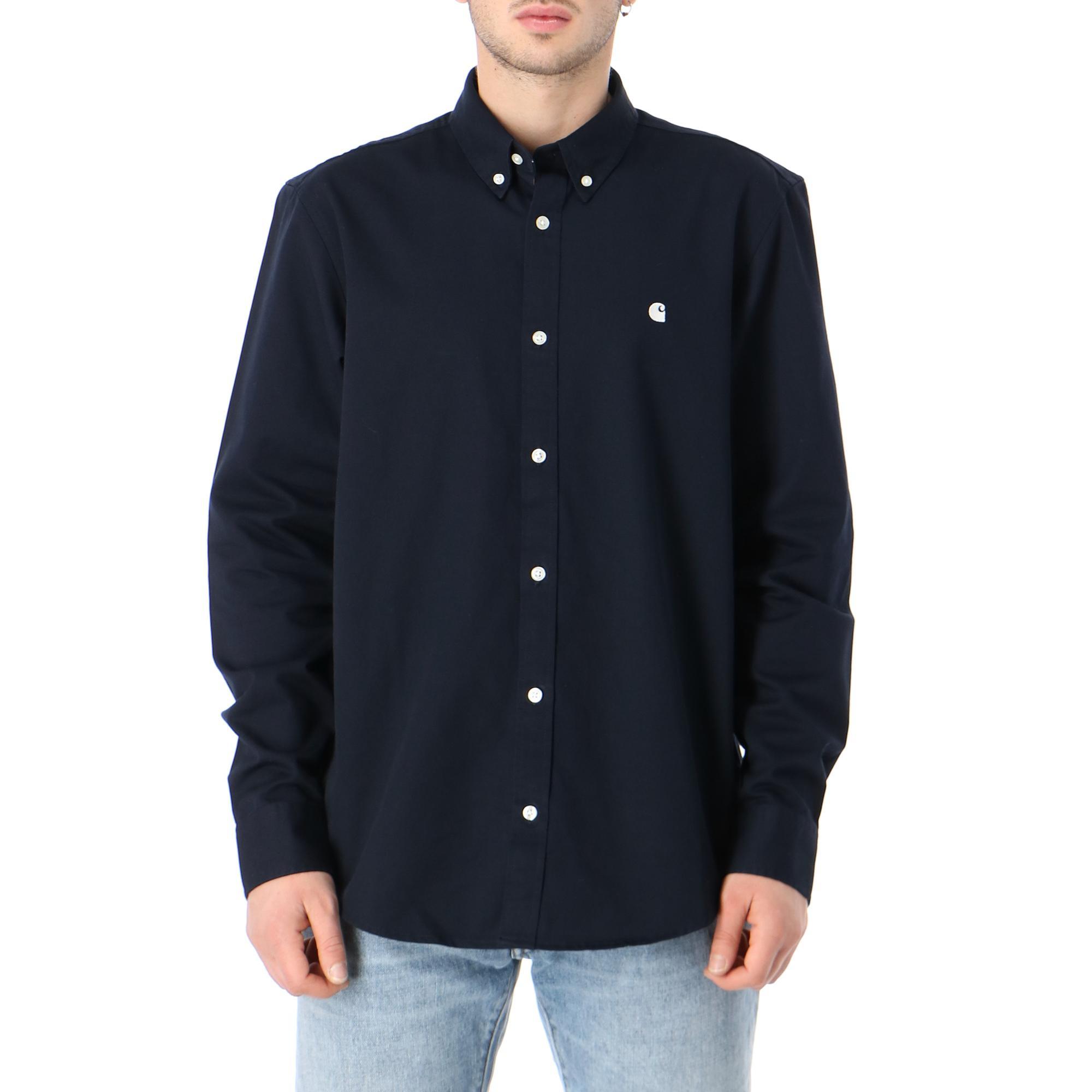 Carhartt L/s Madison Shirt Dark navy wax