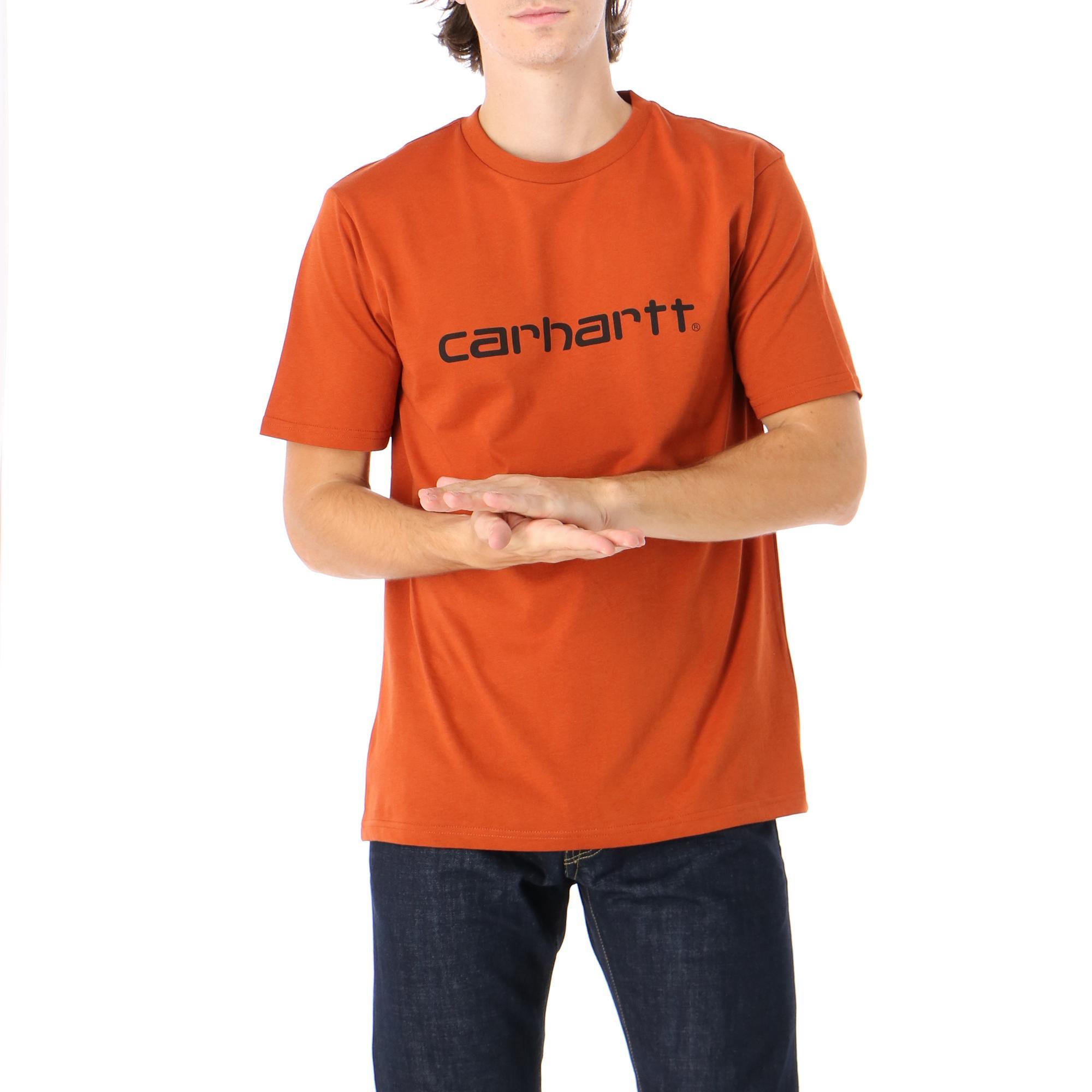 Carhartt S/s Script T-shirt Cinnamon black