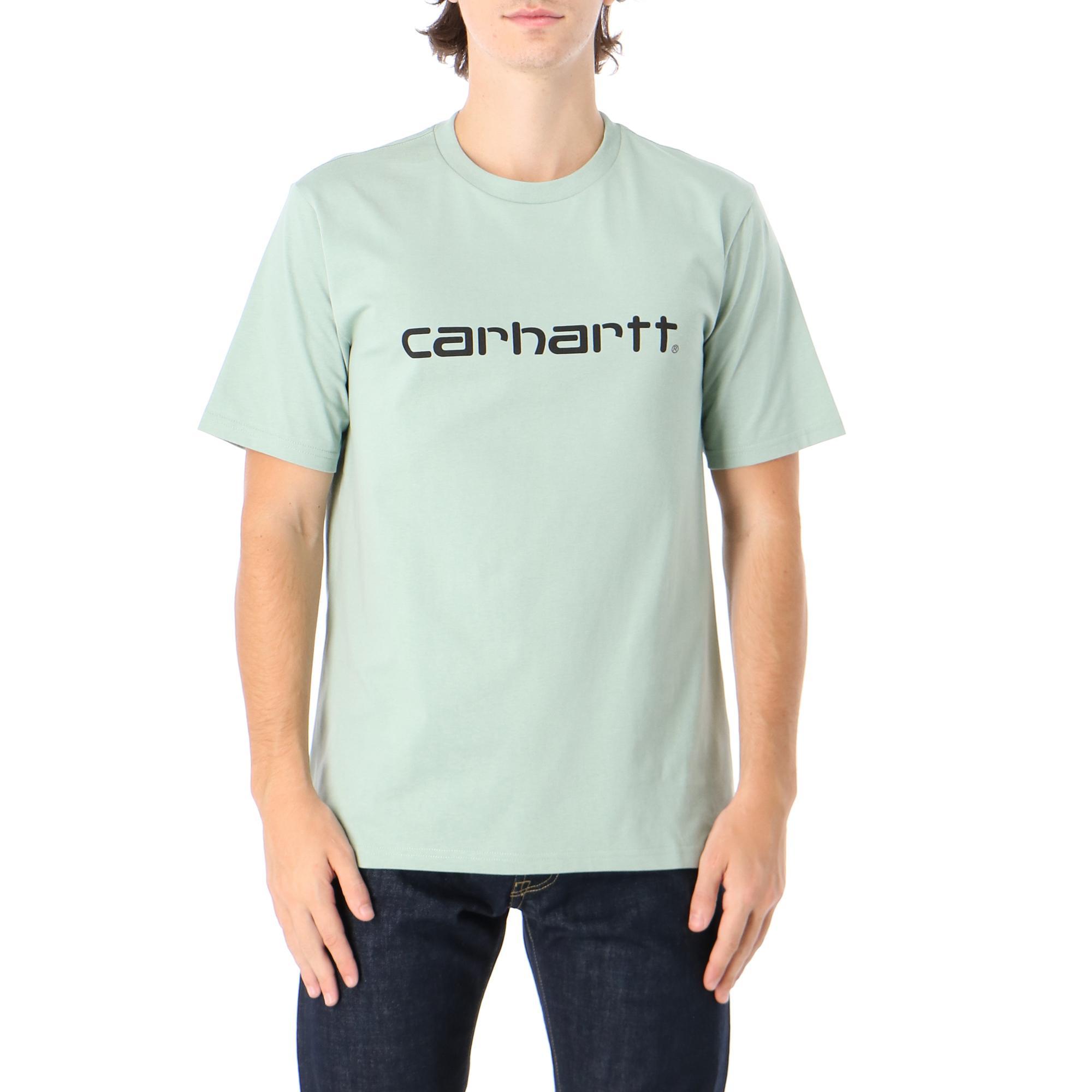 Carhartt S/s Script T-shirt Frosted green black