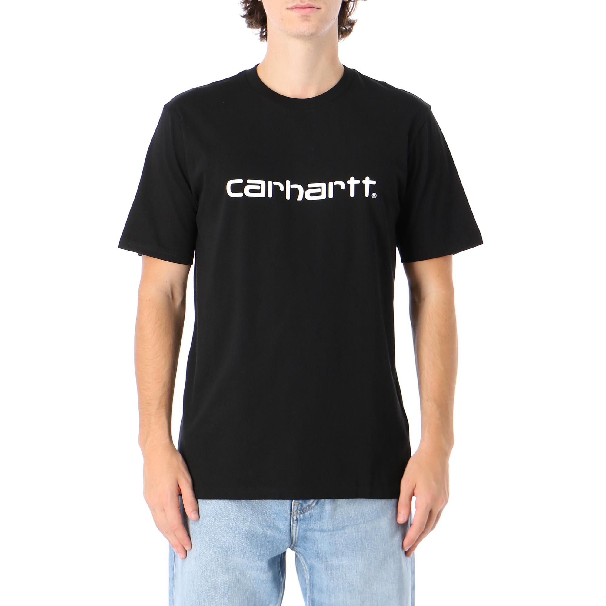 Carhartt S/s Script T-shirt Black white