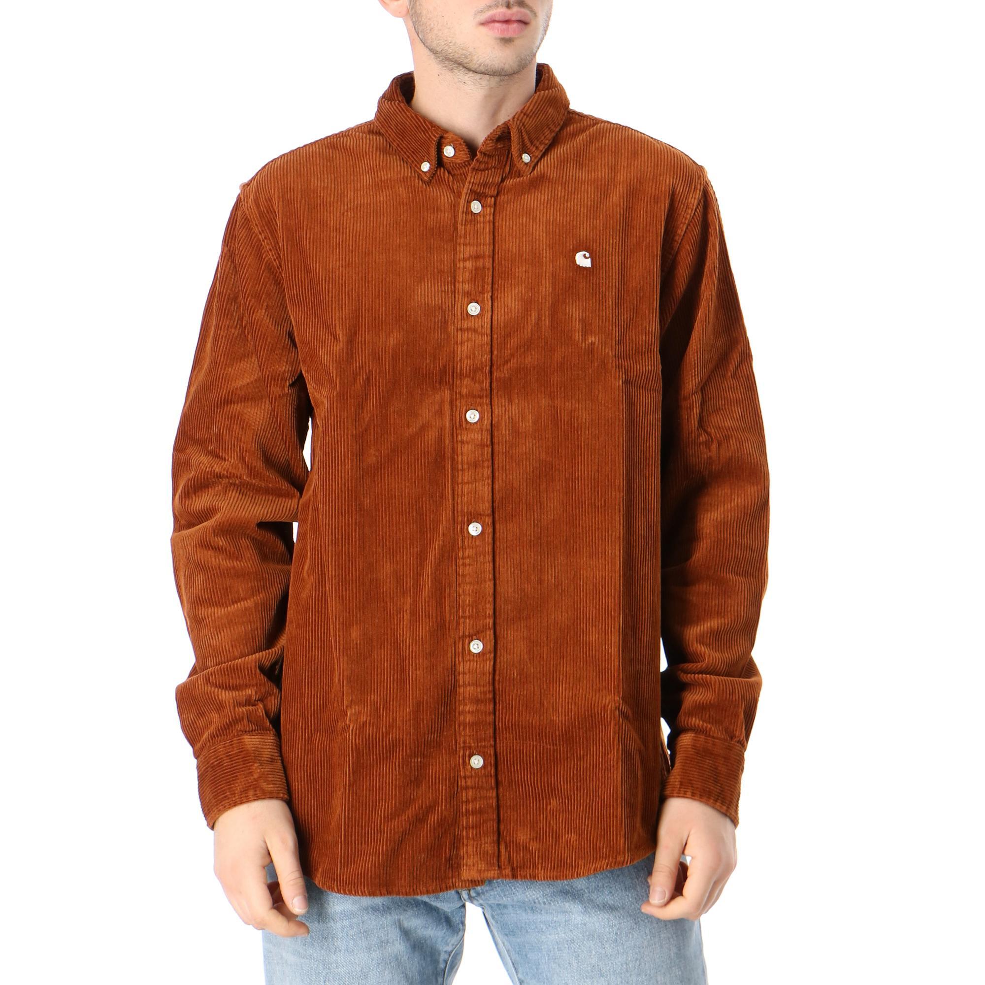 Carhartt L/s Madison Cord Shirt Brandy wax