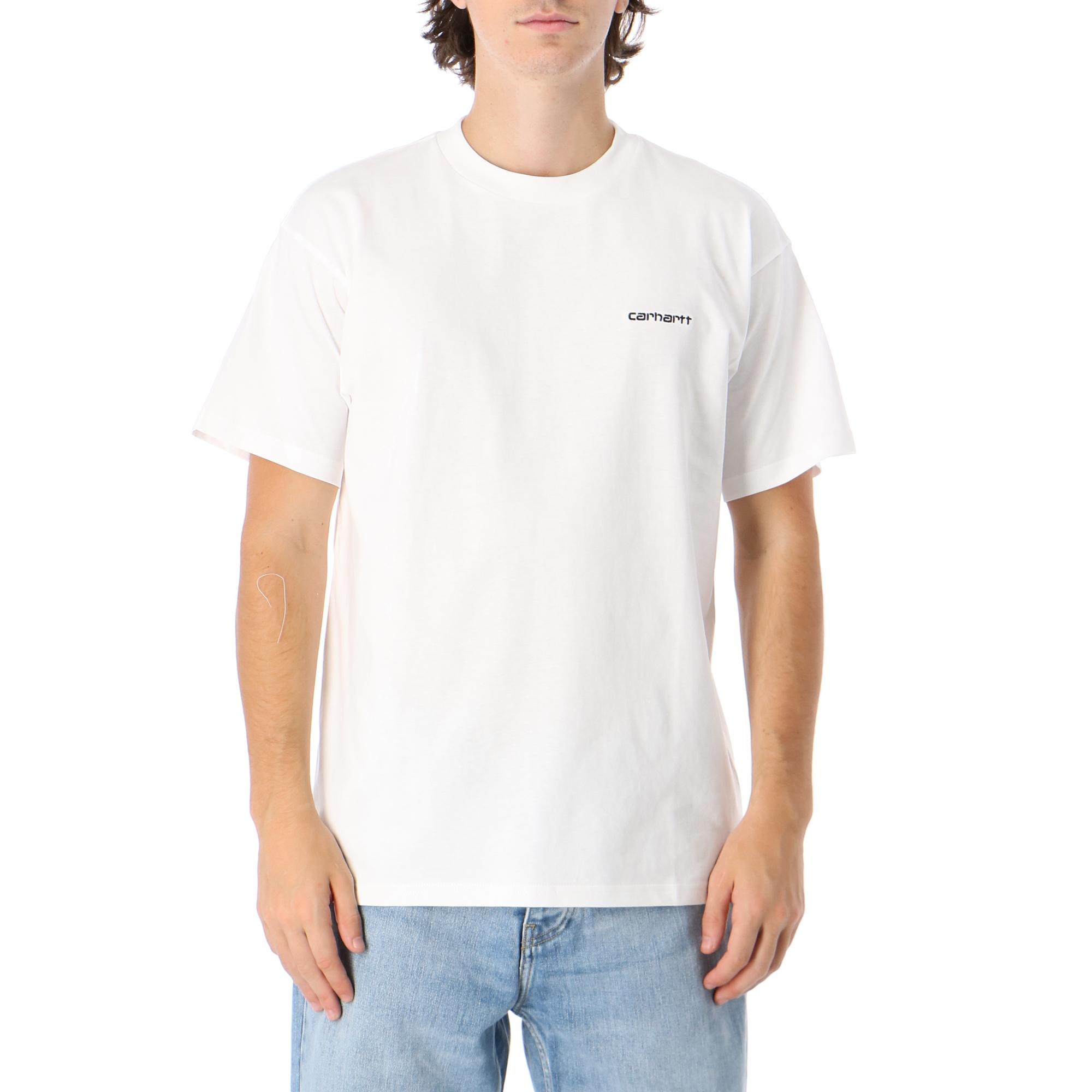 Carhartt S/s Script Embroidery T-shirt White black