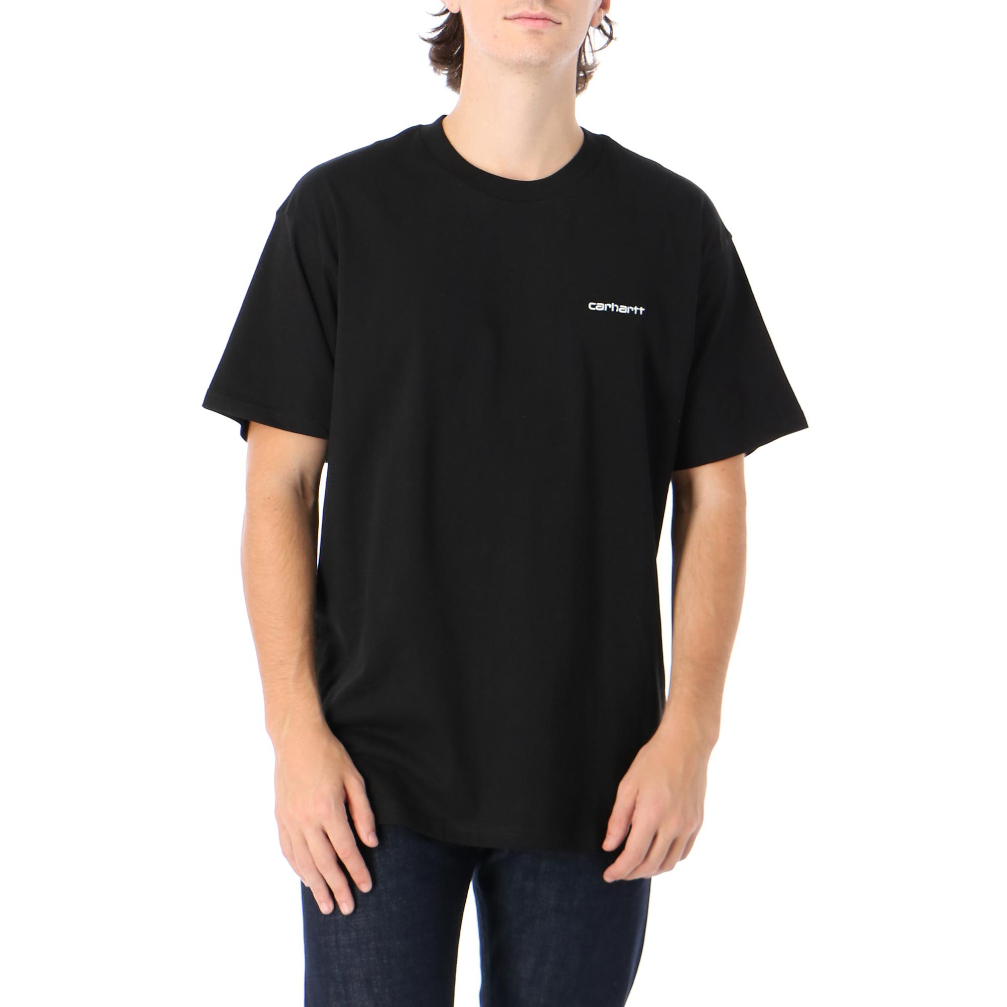 Carhartt S/s Script Embroidery T-shirt Black white