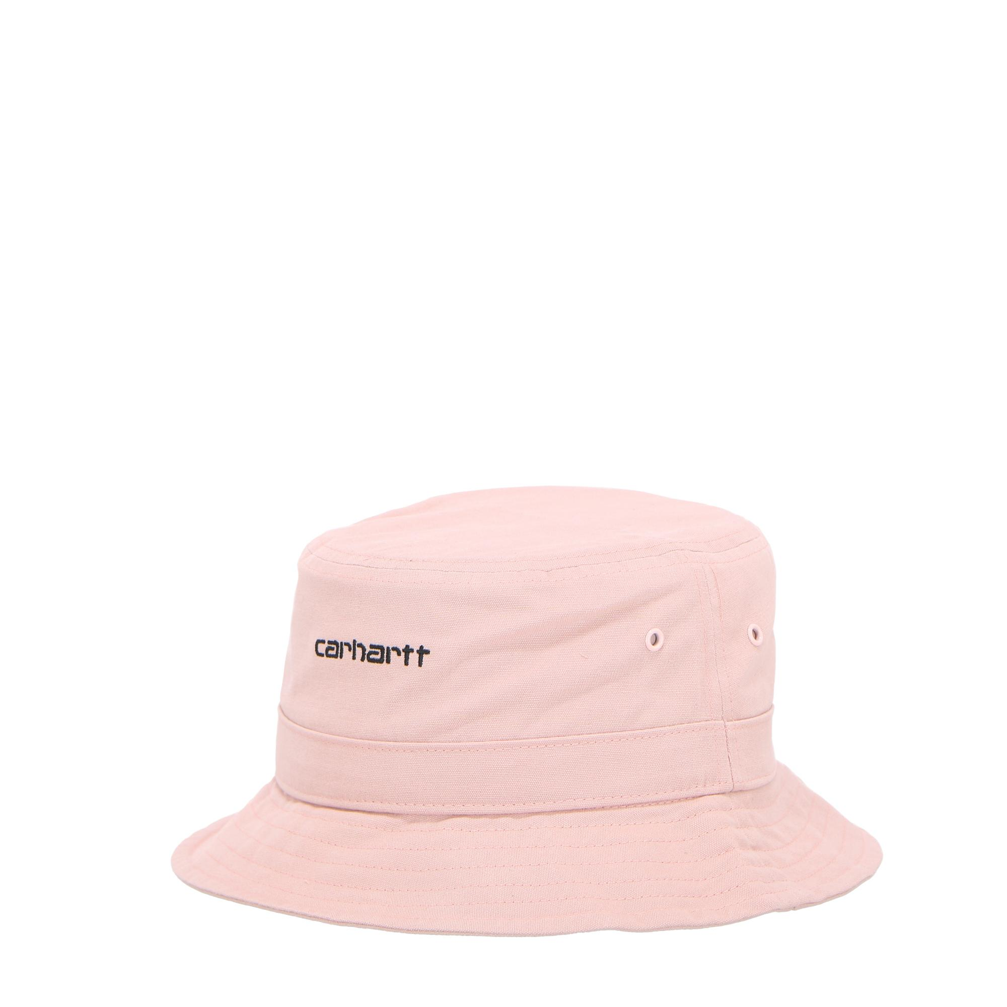 Carhartt Script Bucket Hat Frosted pink black