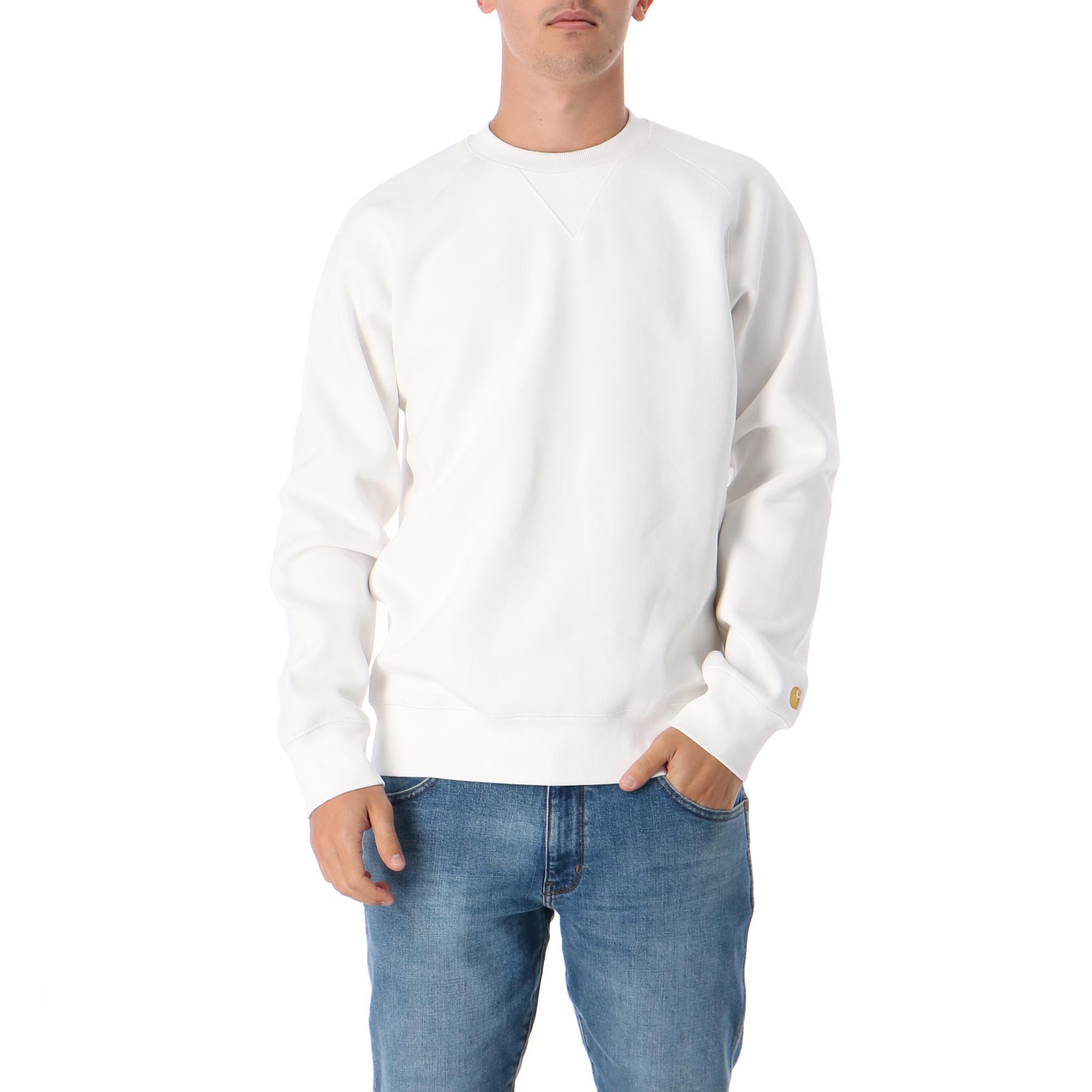 Carhartt Chase Sweatshirt WHITE GOLD