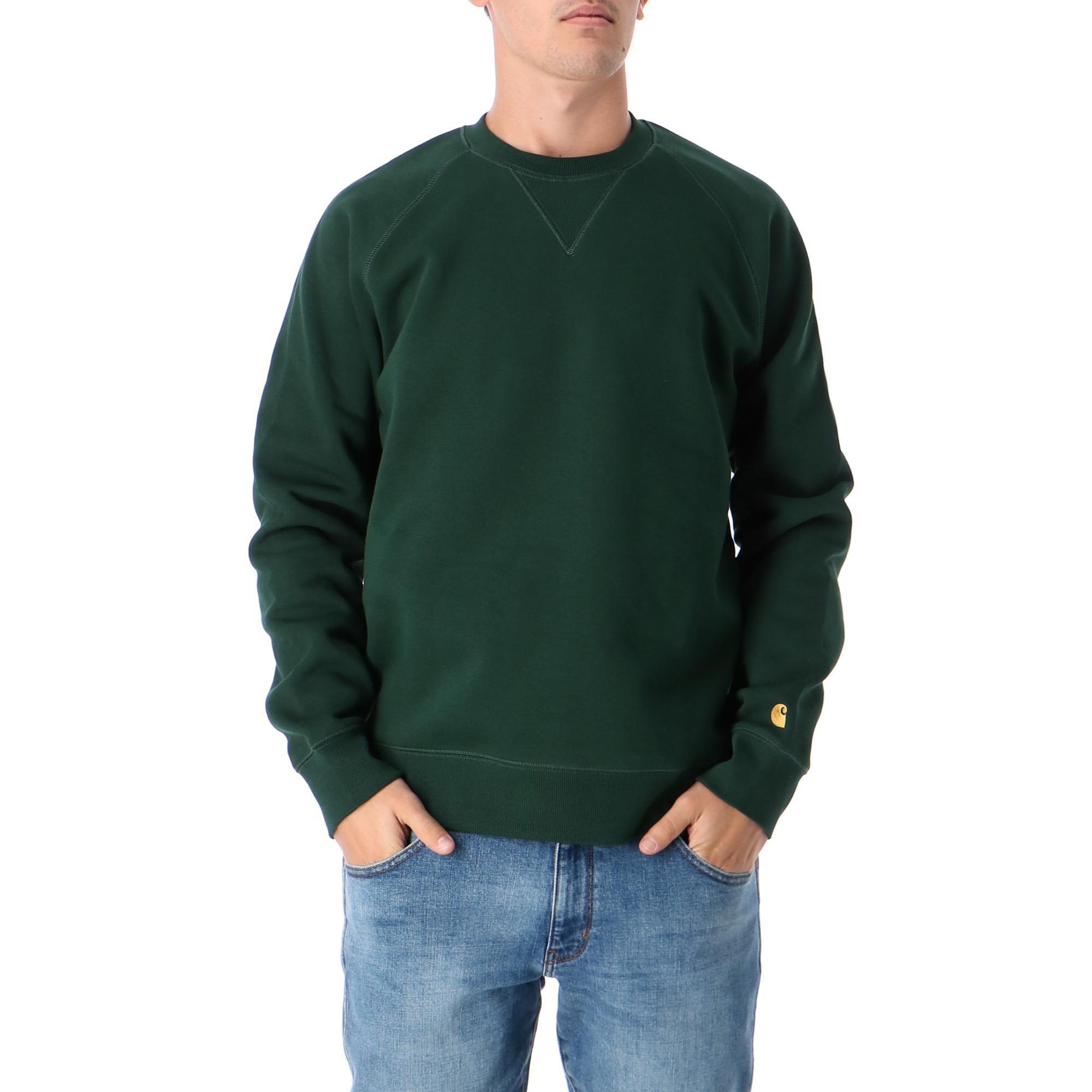 Carhartt Chase Sweatshirt Bottle green gold