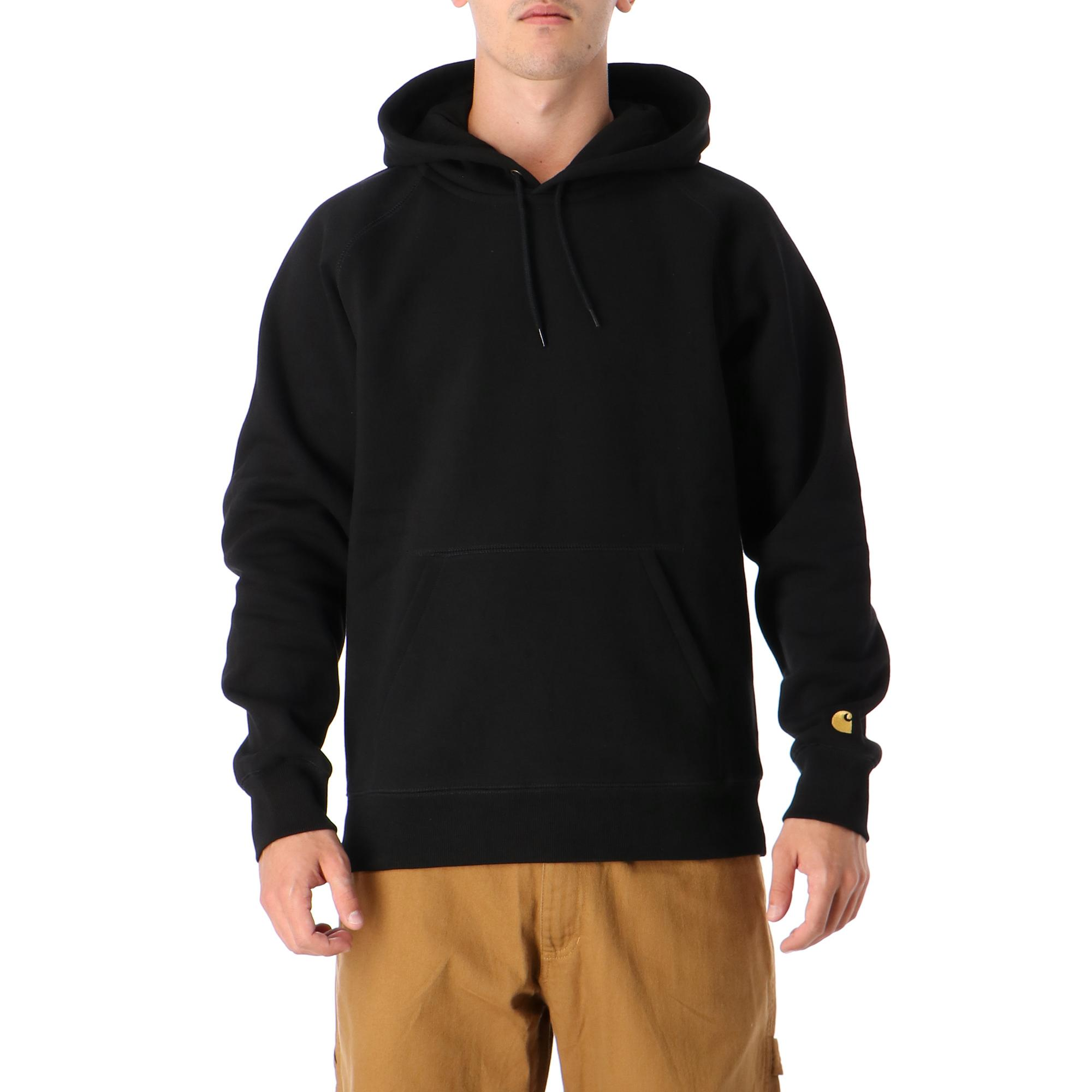 Carhartt Hooded Chase Sweatshirt<br/> Black gold