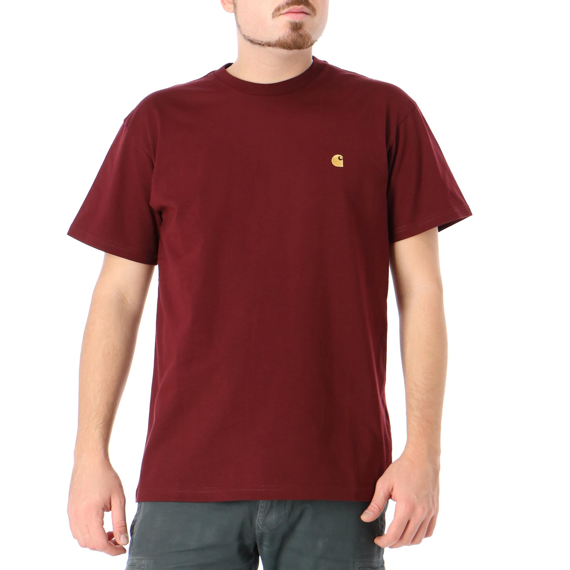 Carhartt S/s Chase T-shirt Bordeaux gold