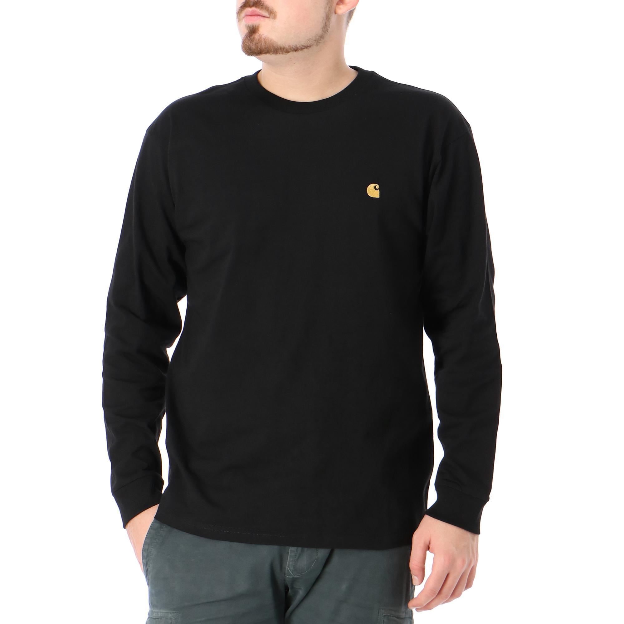 Carhartt L/s Chase T-shirt Black gold