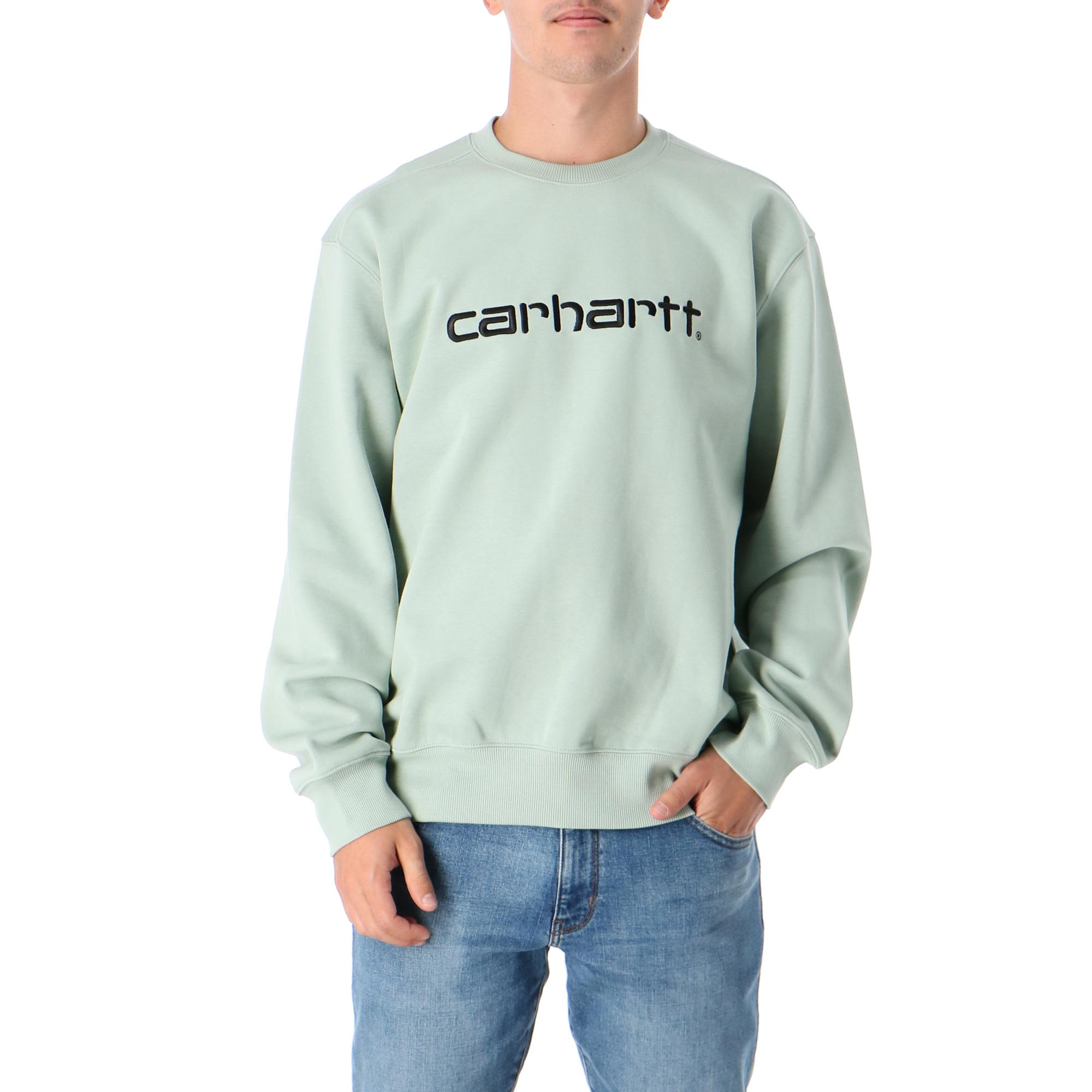 Carhartt Sweatshirt Frosted green black