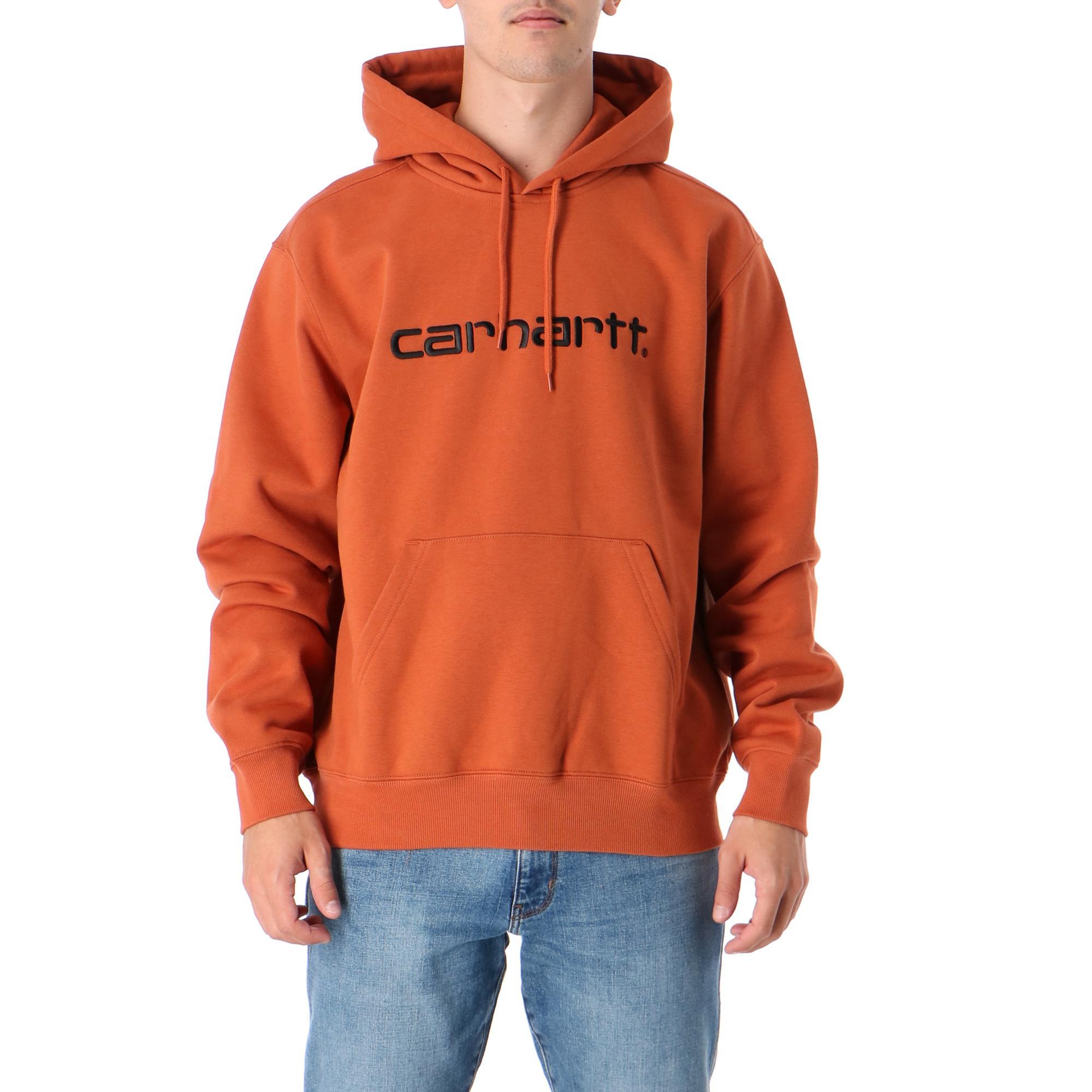 Carhartt Hooded Carhartt Sweatshirt Cinnamon black