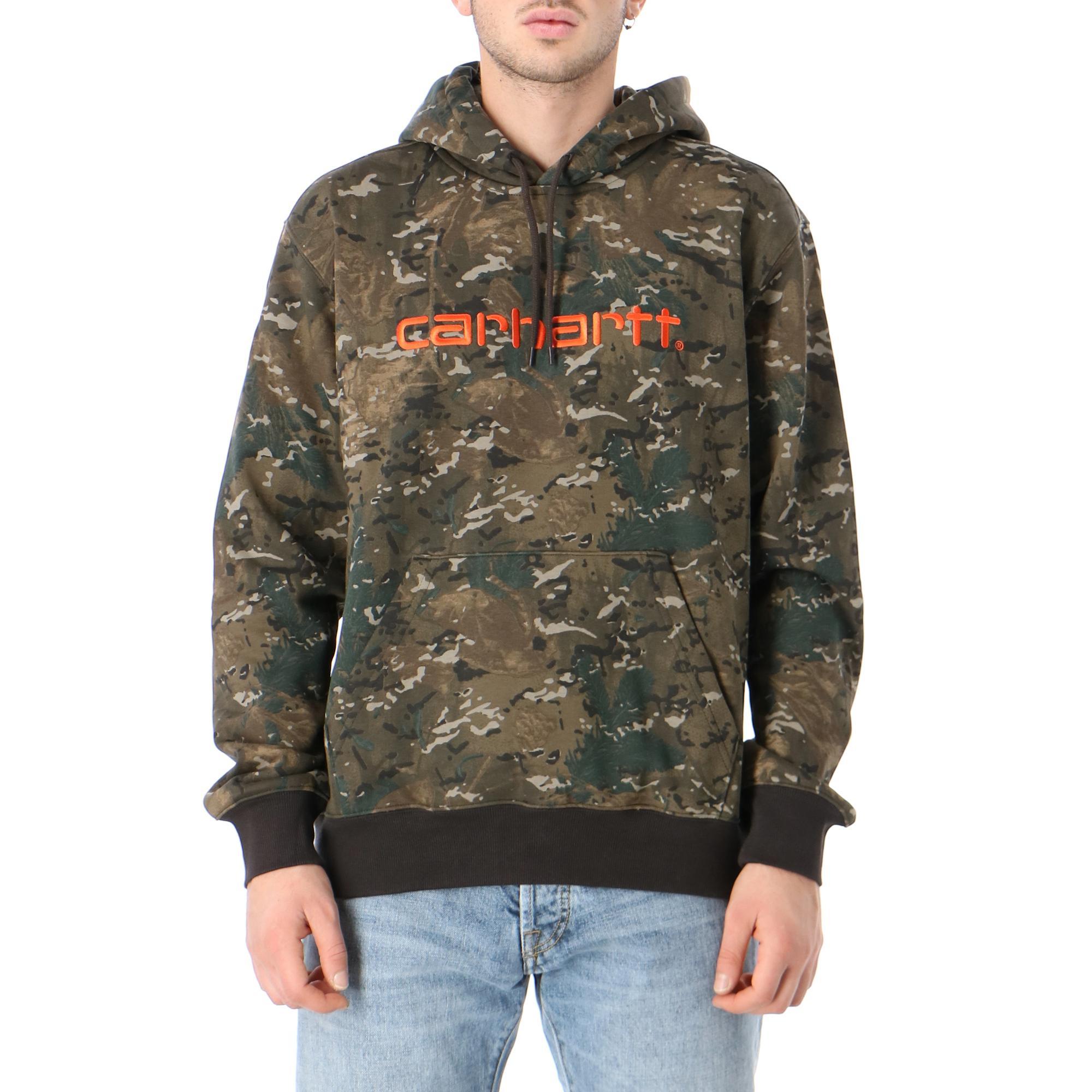 Carhartt Hooded Sweatshirt Camo combi safety orange