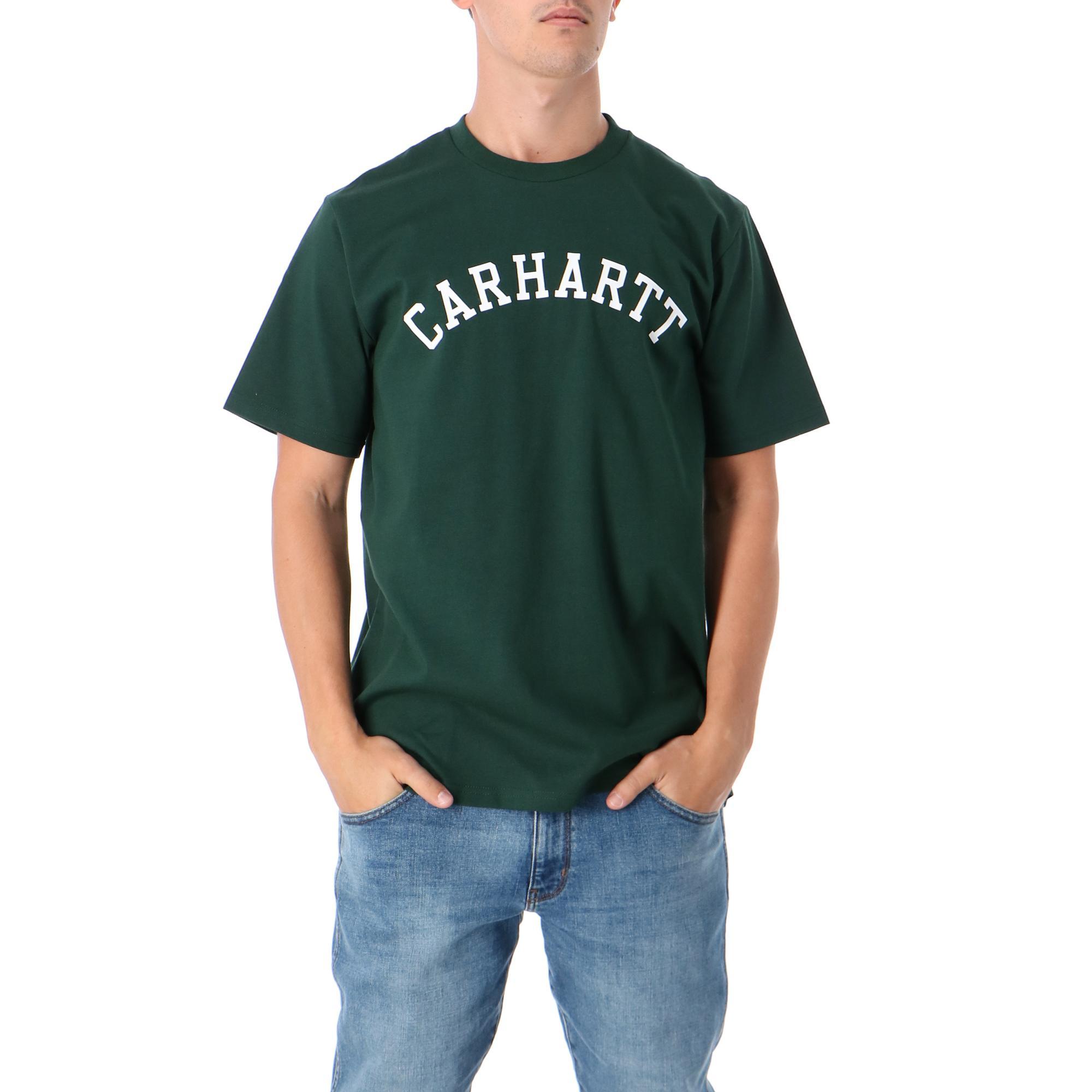 Carhartt S/s University T-shirt Bottle green white
