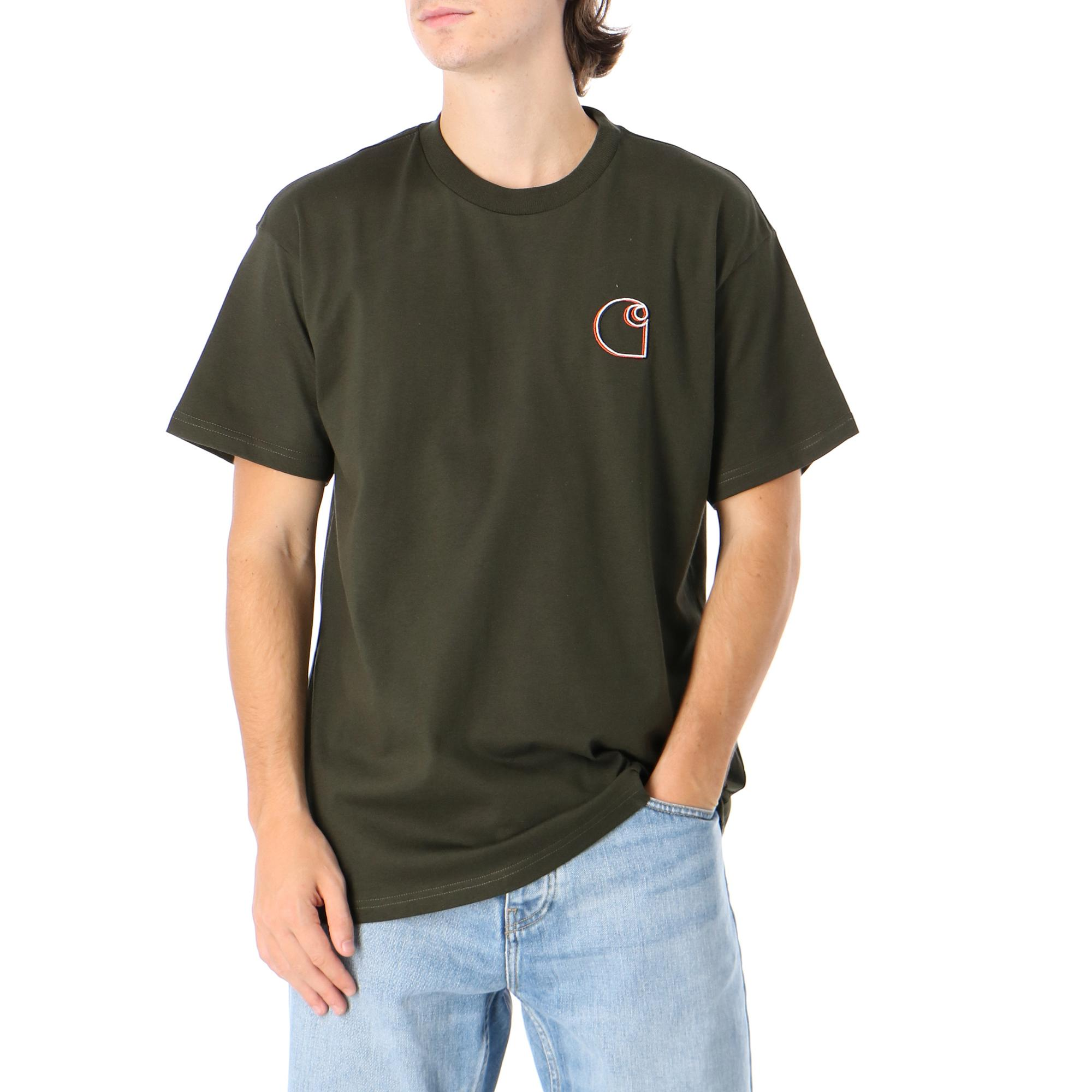 Carhartt S/s Commission Logo T-shirt CYPRESS