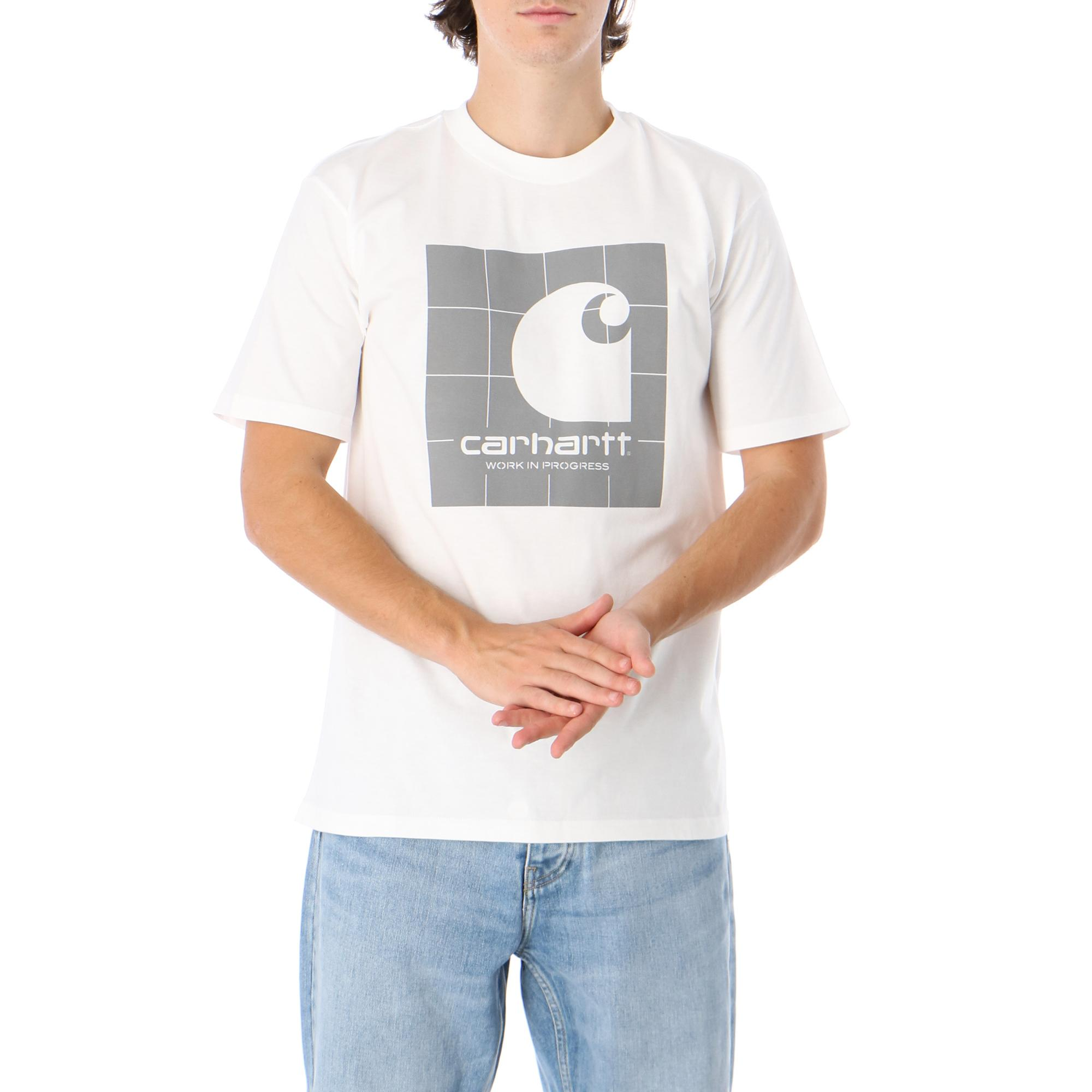 Carhartt S/s Reflective Square T-shirt White reflective grey
