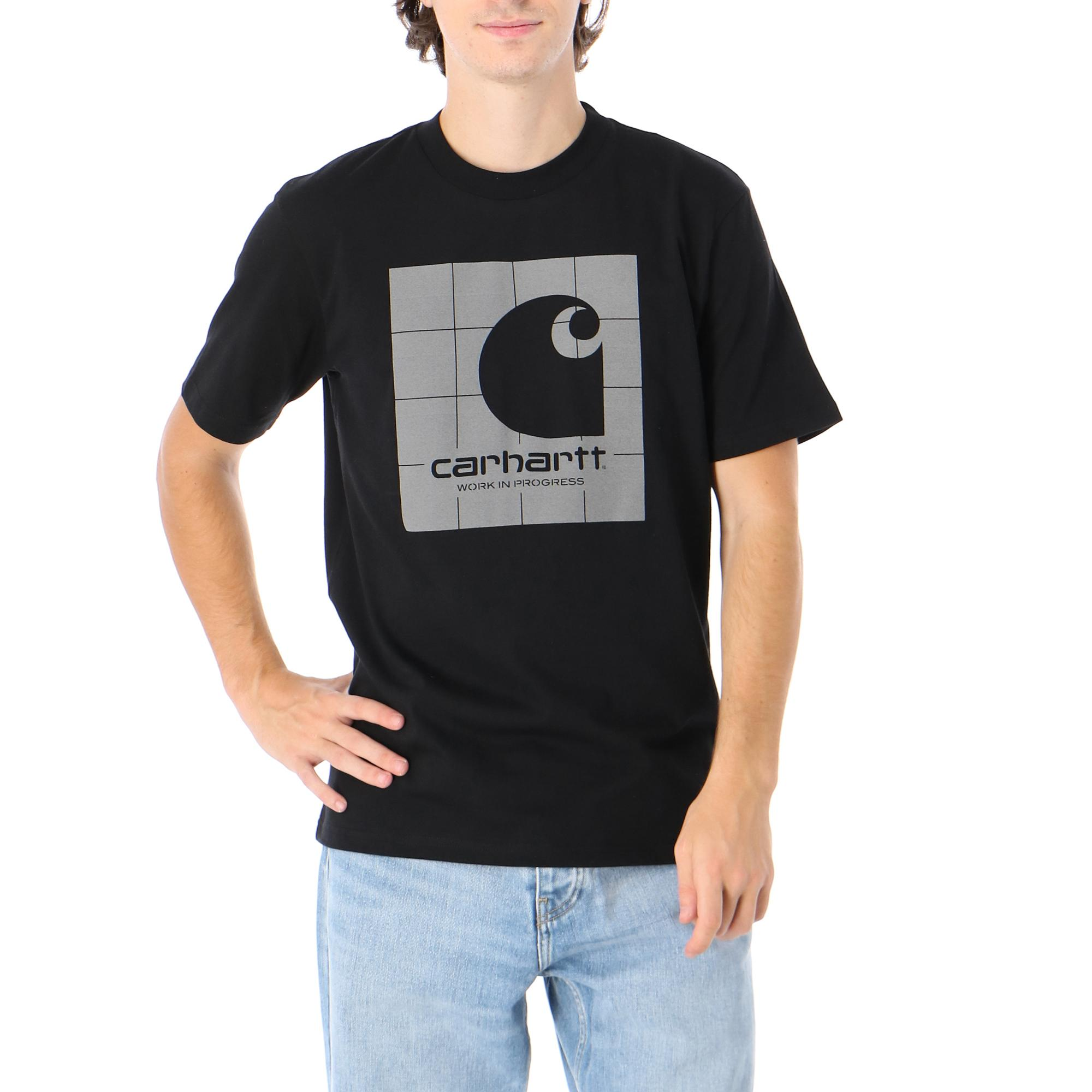 Carhartt S/s Reflective Square T-shirt Black reflective grey