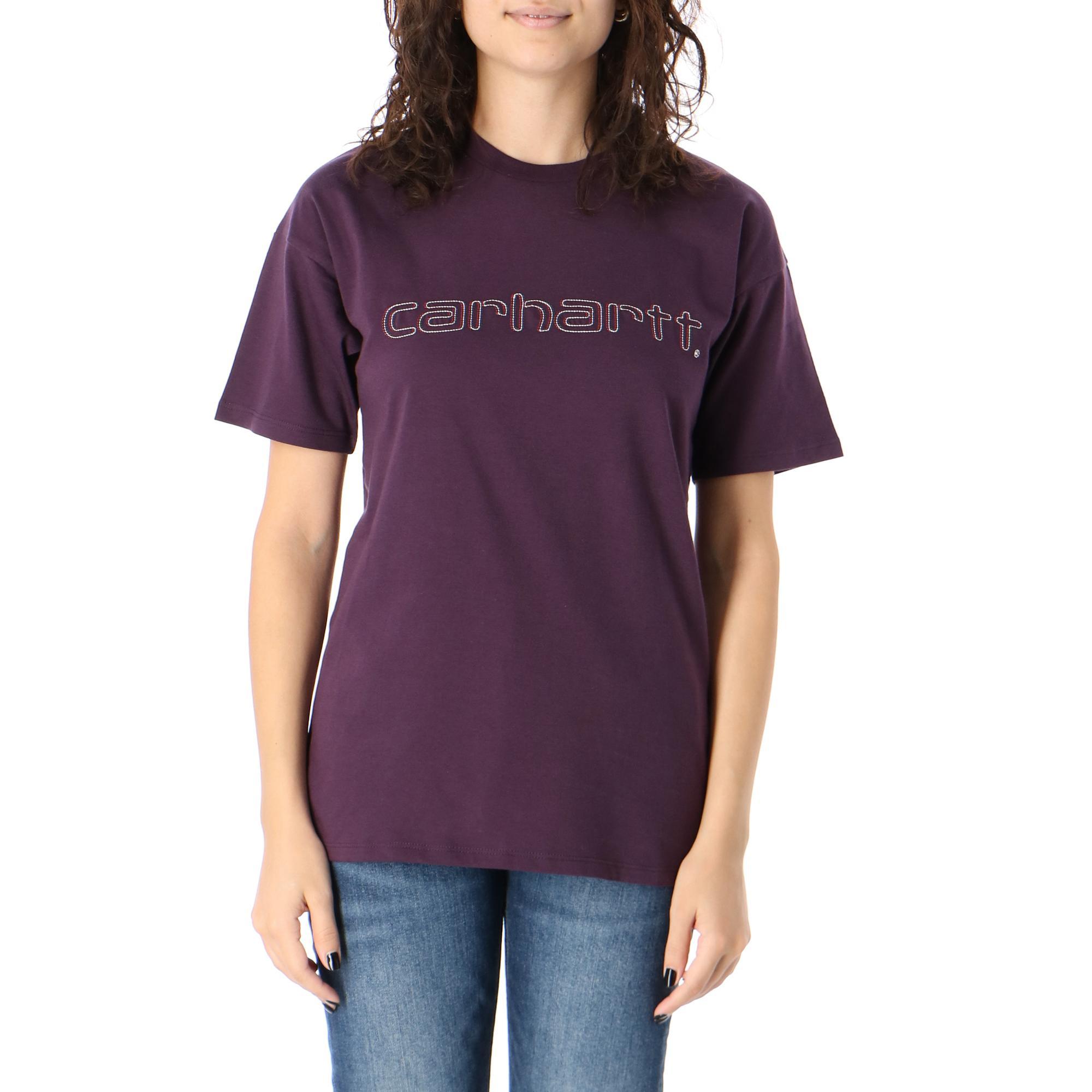 Carhartt W S/s Commission Script T-shirt Boysenberry