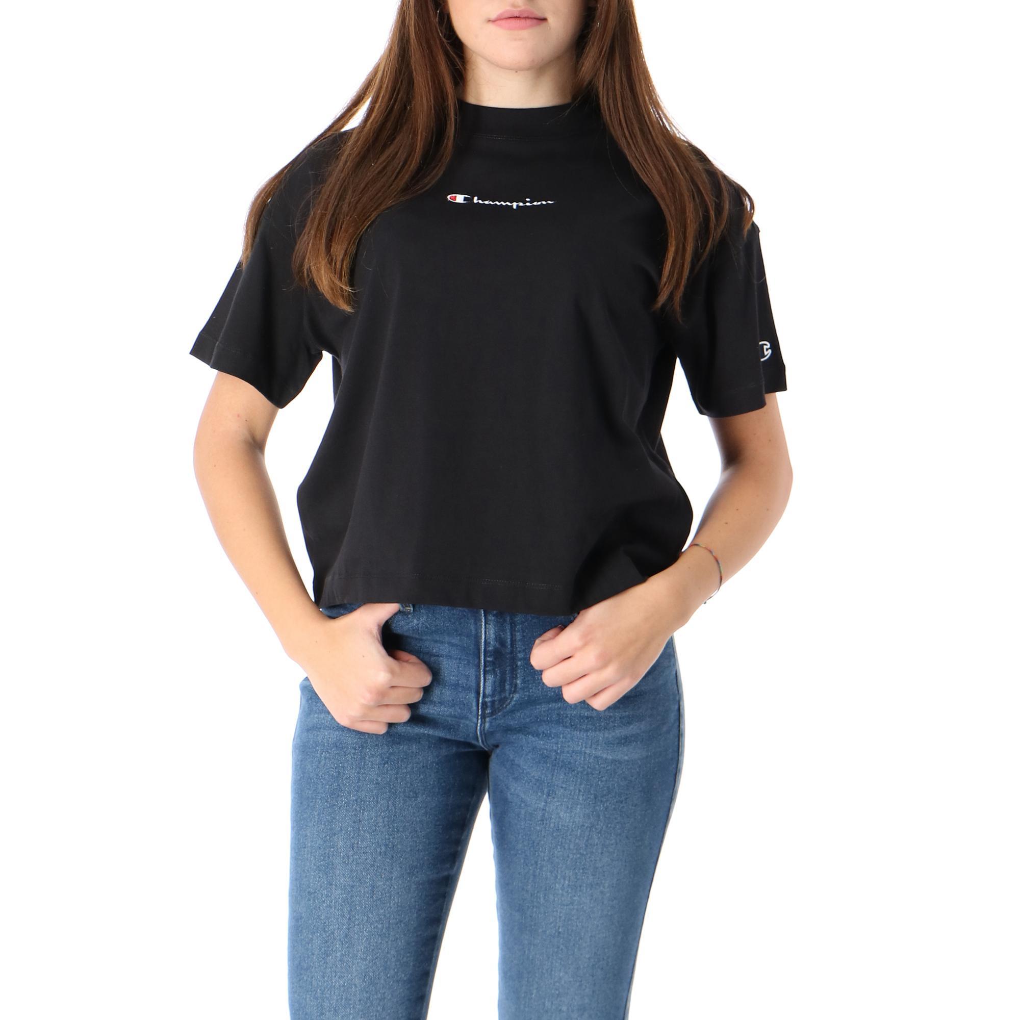 Champion Crewneck T Shirt Black