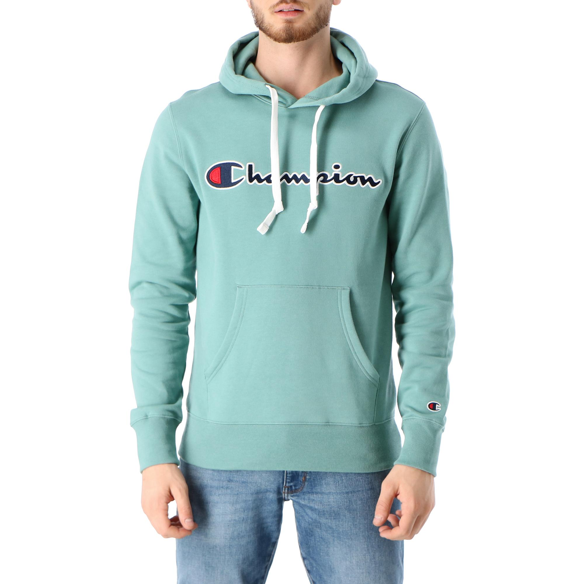 Champion Hooded Sweatshirt Green pastel