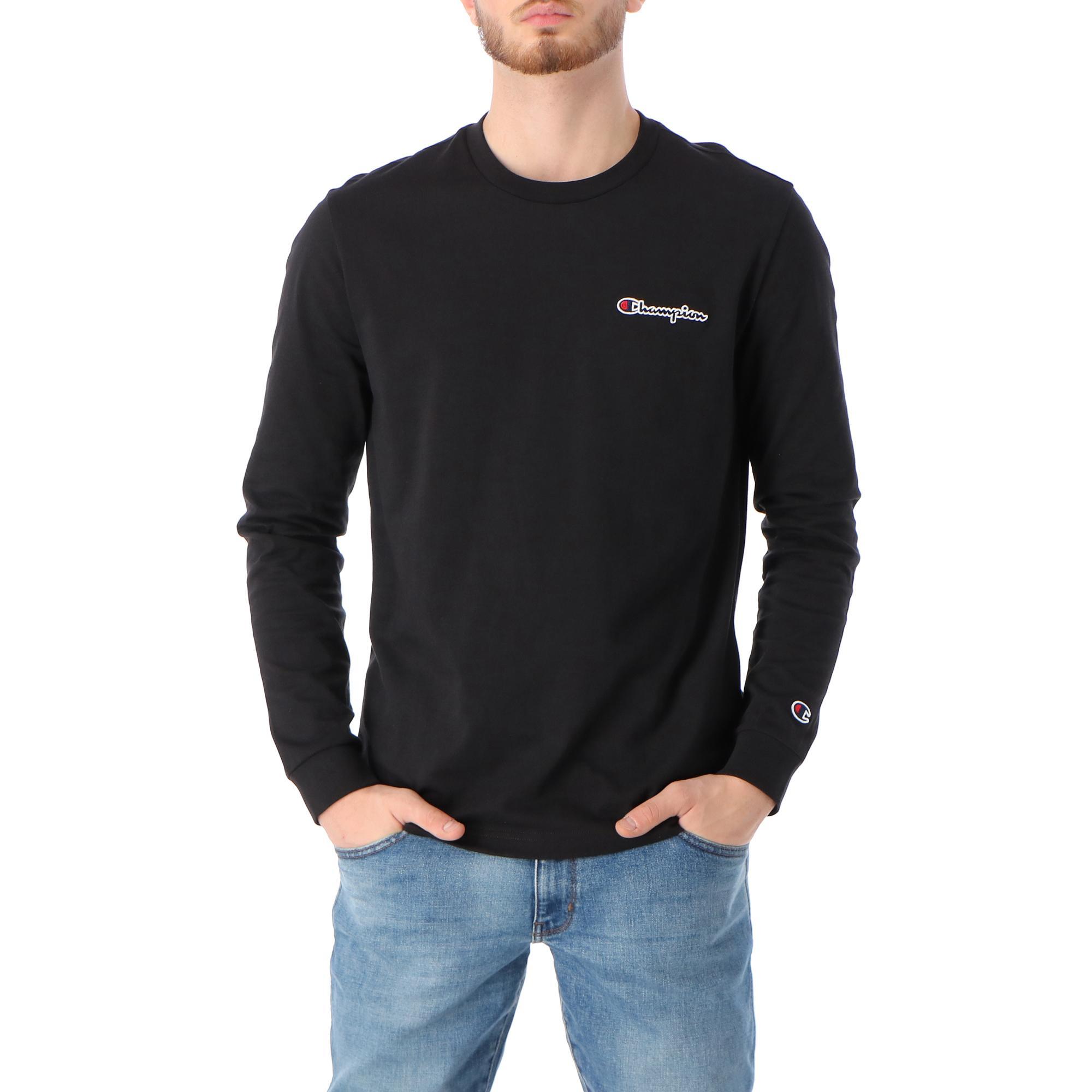 Champion Crewneck Long Sleeve R Shirt Black