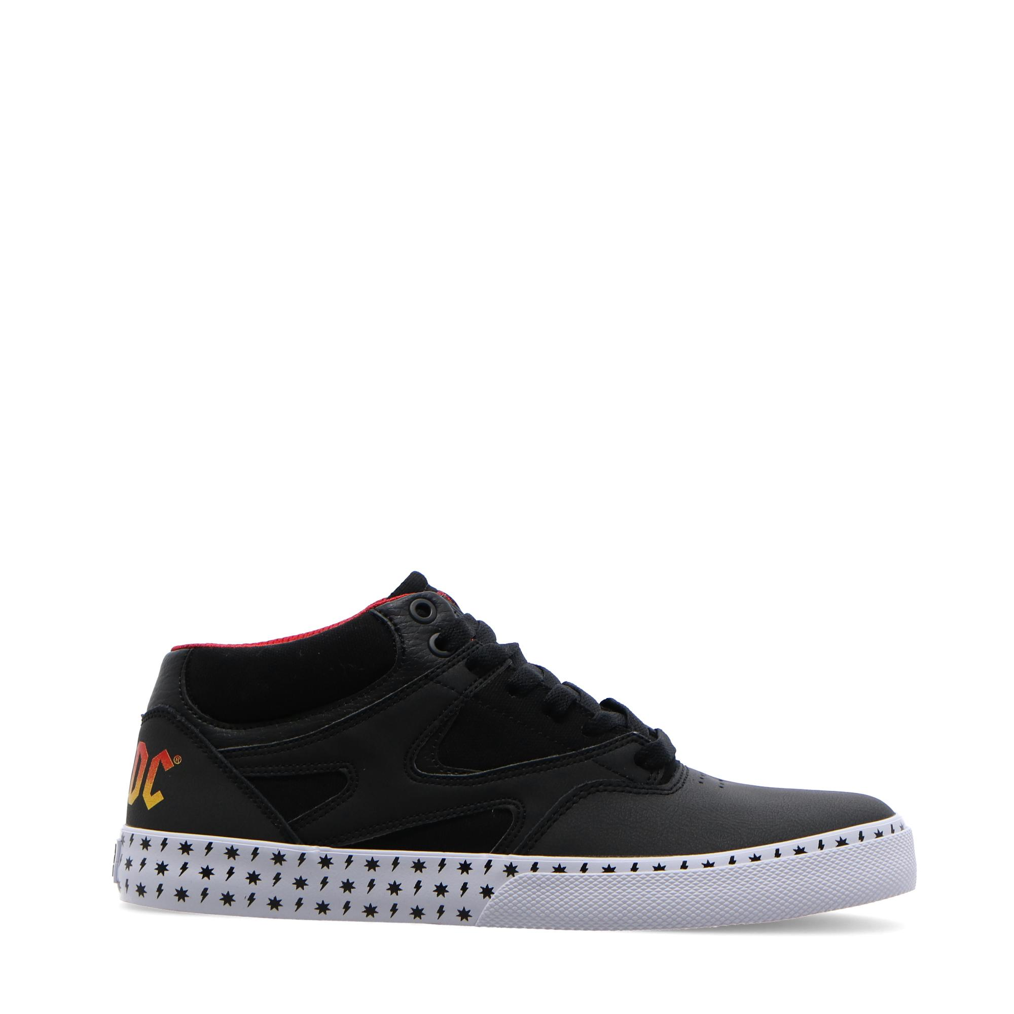 Dc Kalis Vulc Mid Acdc BLACK WHITE RED
