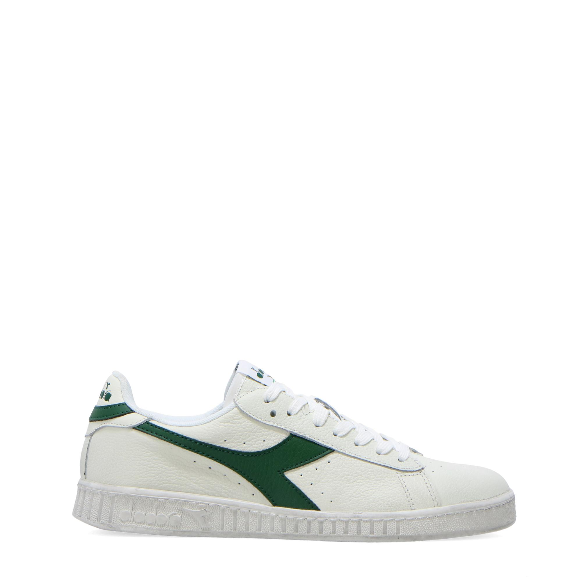Diadora Game L Low Waxed White fogliage