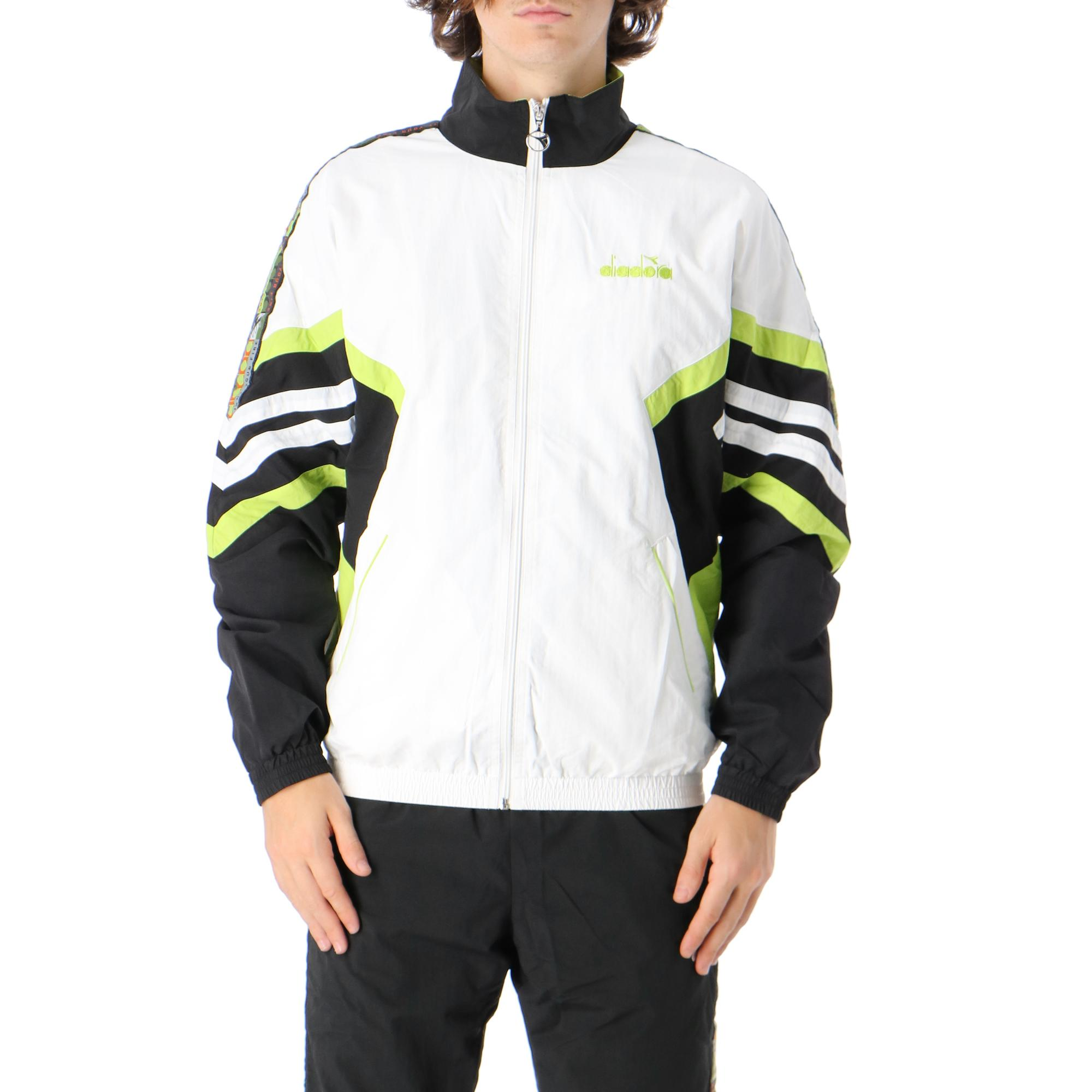 Diadora Track Jacket Offside '95 OPTICAL WHITE BLACK