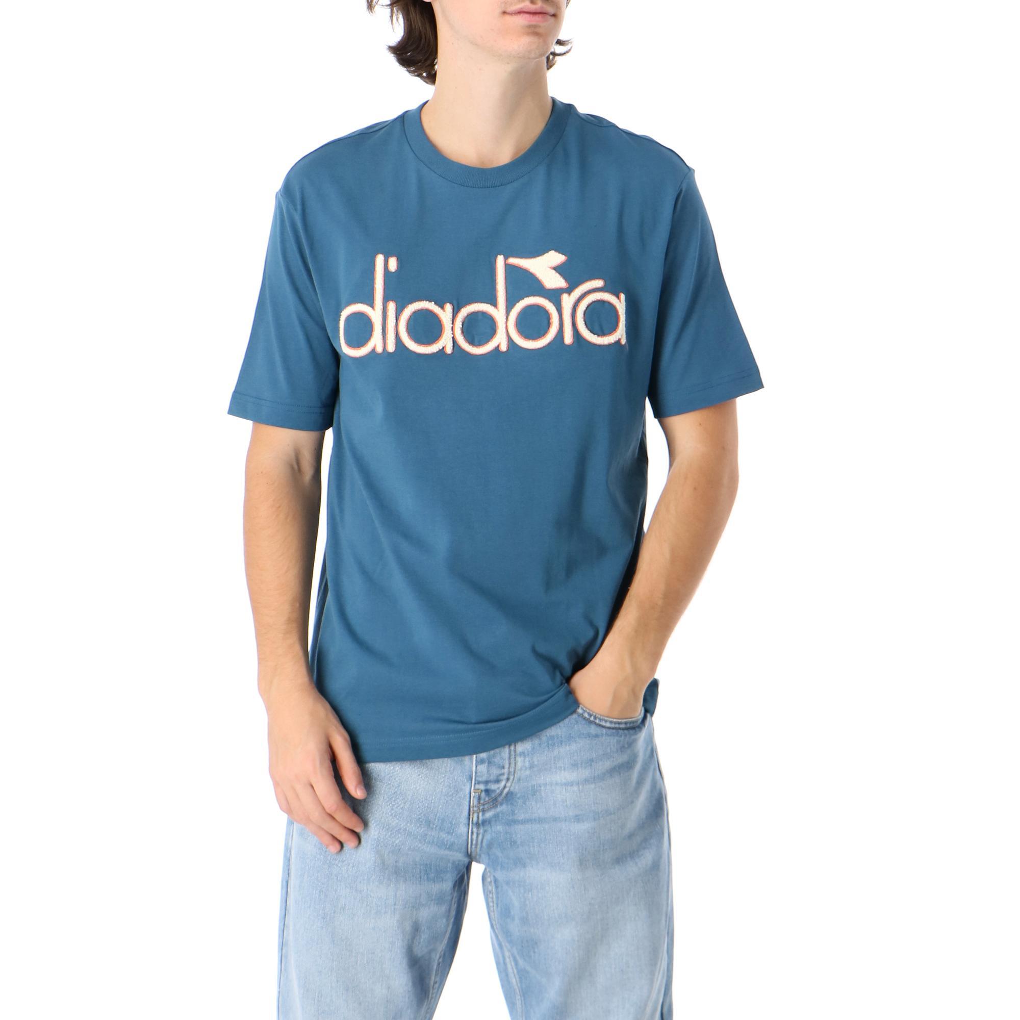 Diadora Tshirt Ss 5palle Wnt Blue morrocan