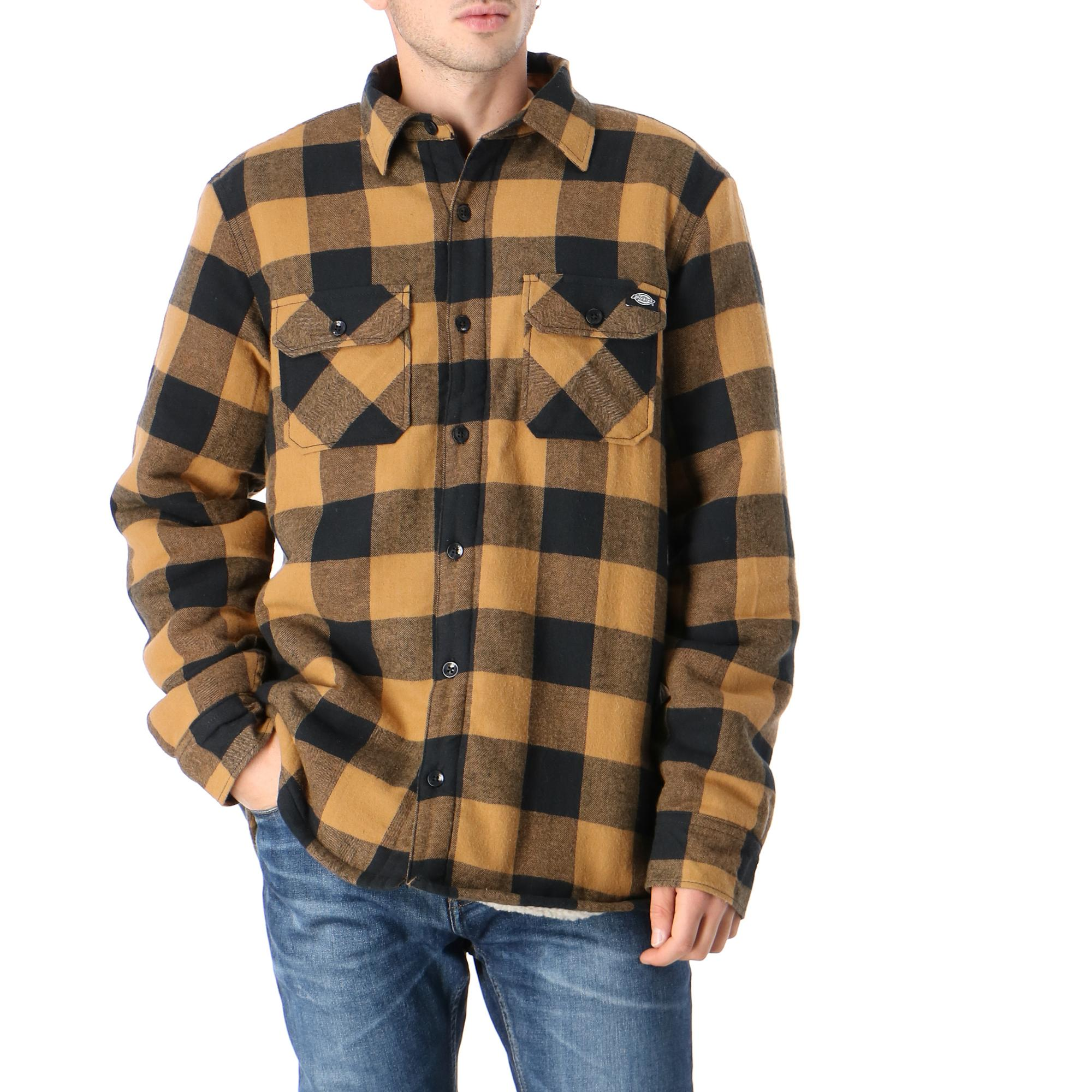 Dickies Lansdale Relaxed Fit Overshirt Brown duck
