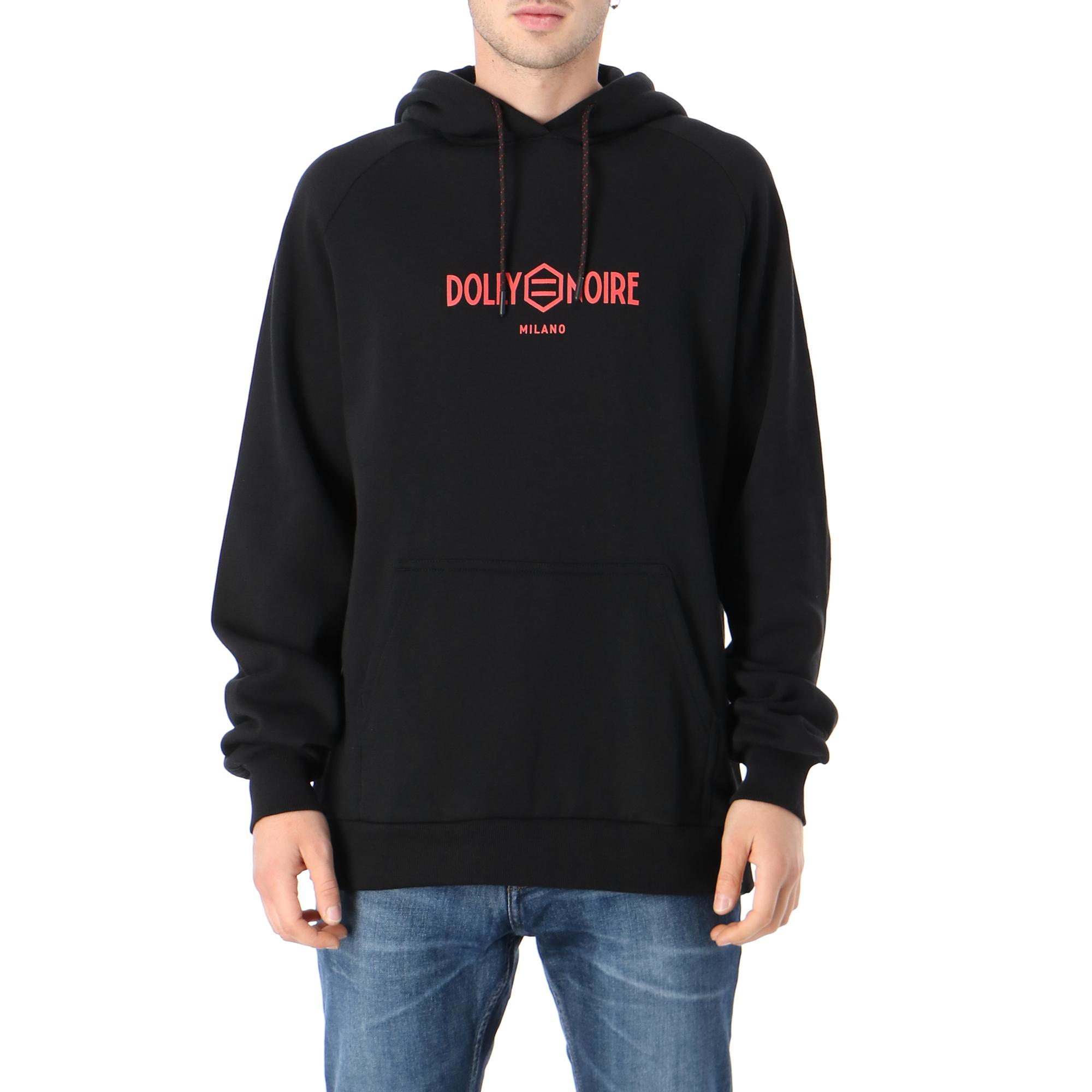 Dolly Noire Capital Black & Red Hoodie Black