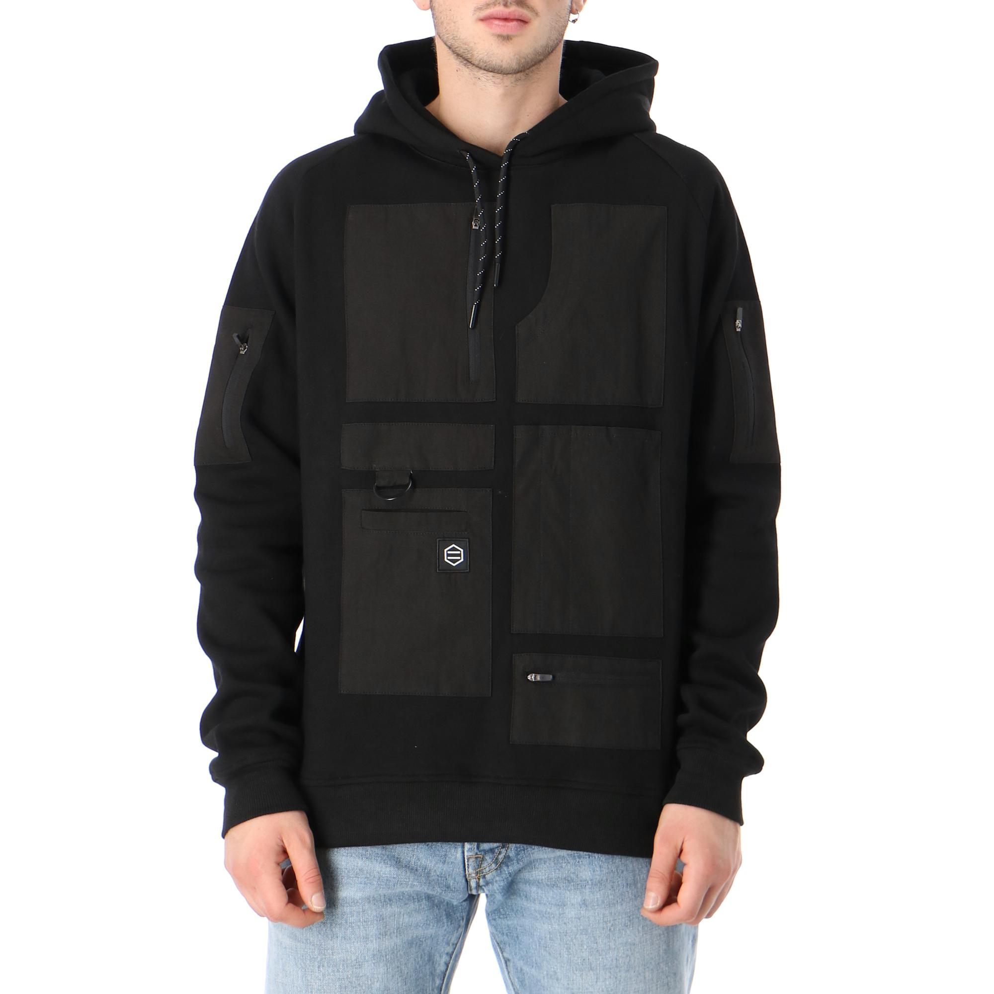 Dolly Noire Special Pocket Black Hoodie Black