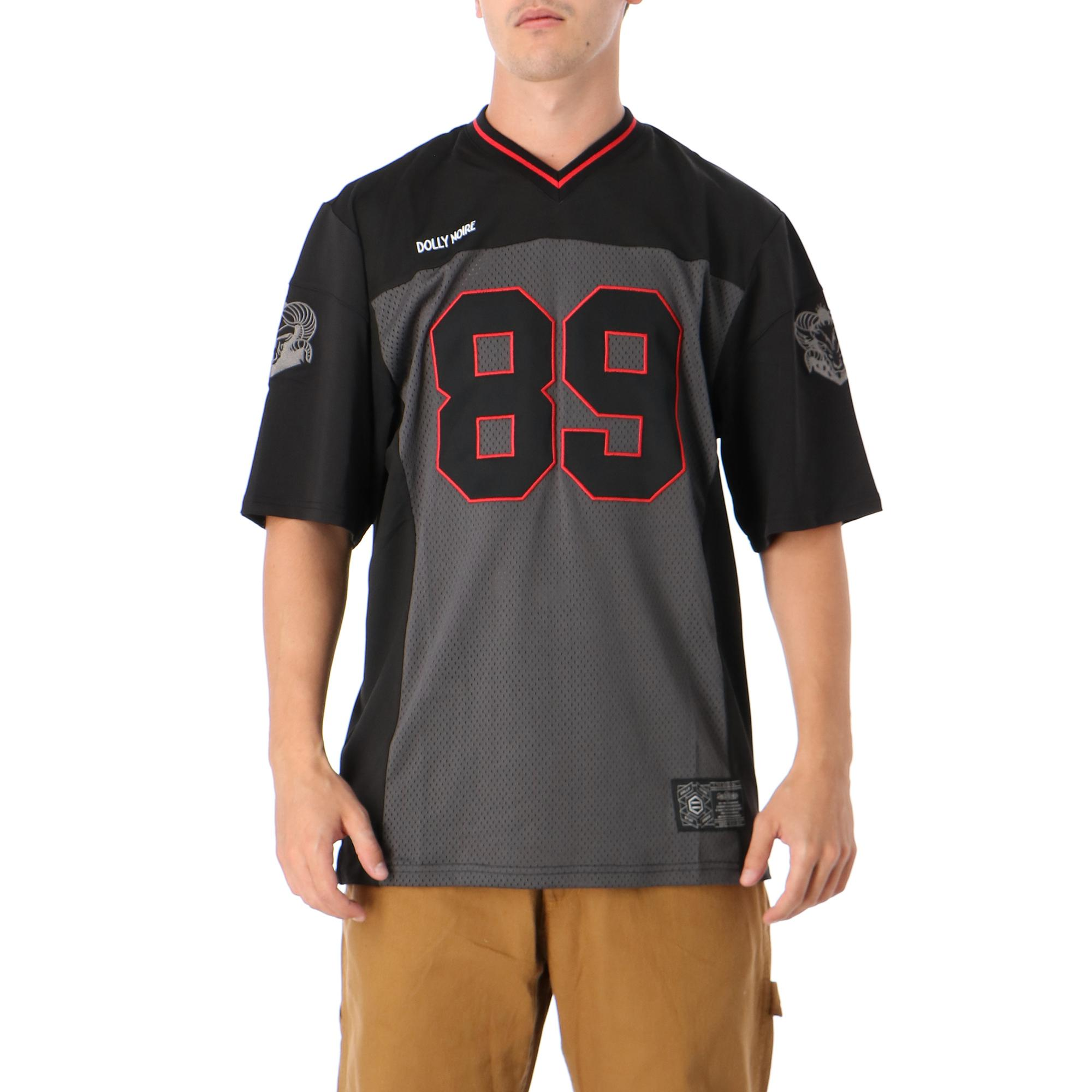 Dolly Noire Football Fury - Blak & Red Black