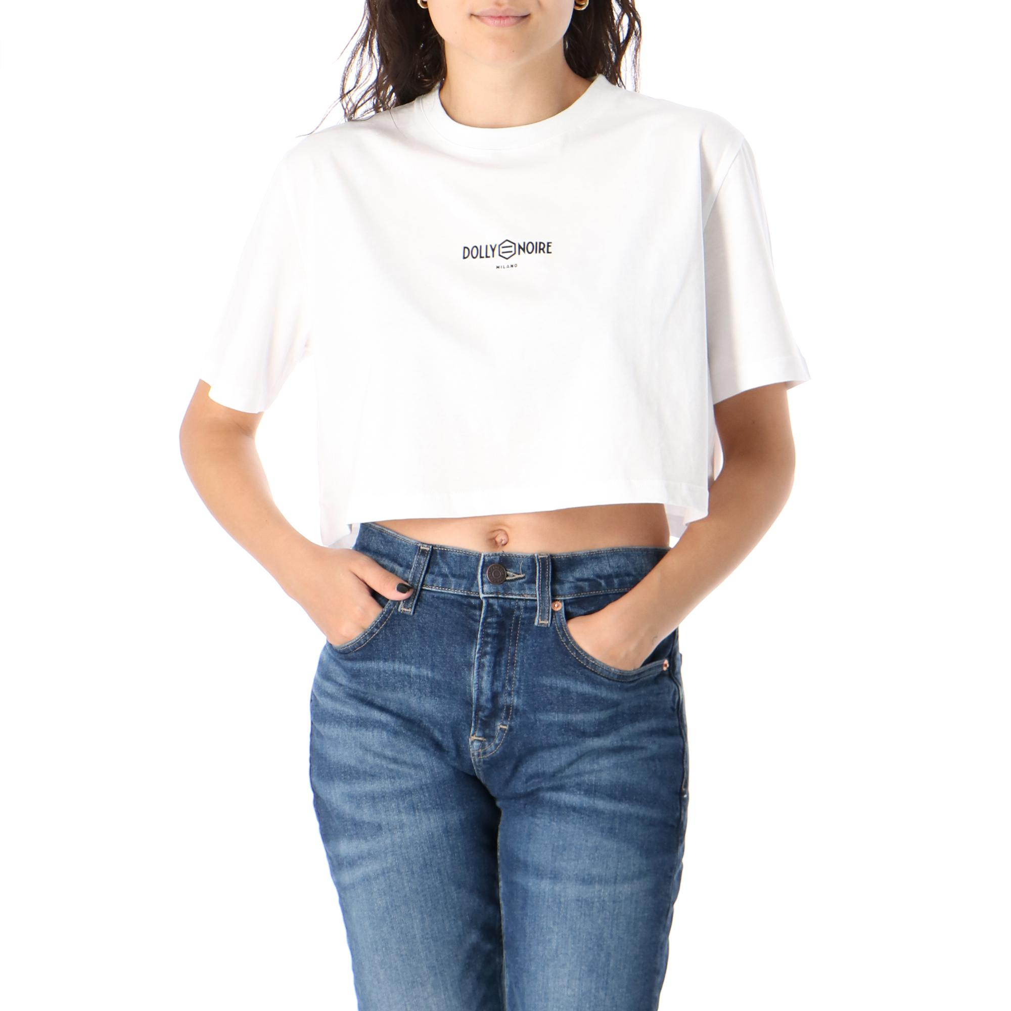 Dolly Noire Capital White Crop Top WHITE