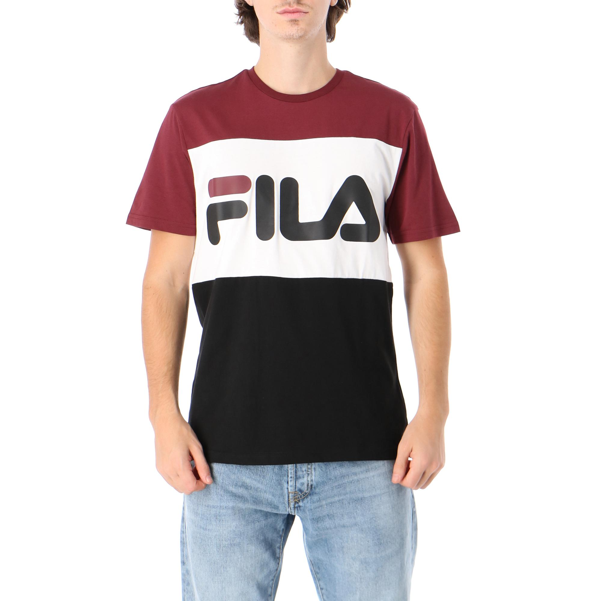 Fila Day Tee Tawny port black bright white