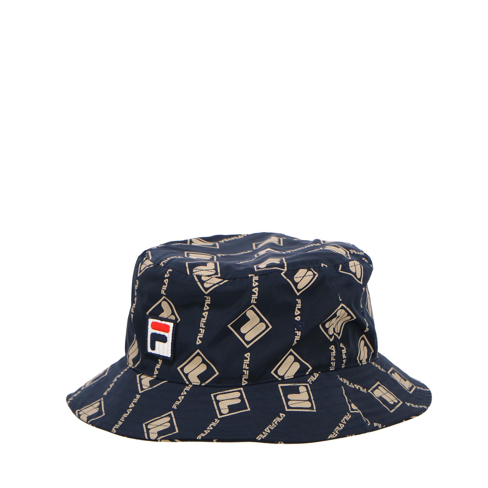 Fila Bucket Hat Aop Black iris irish cream