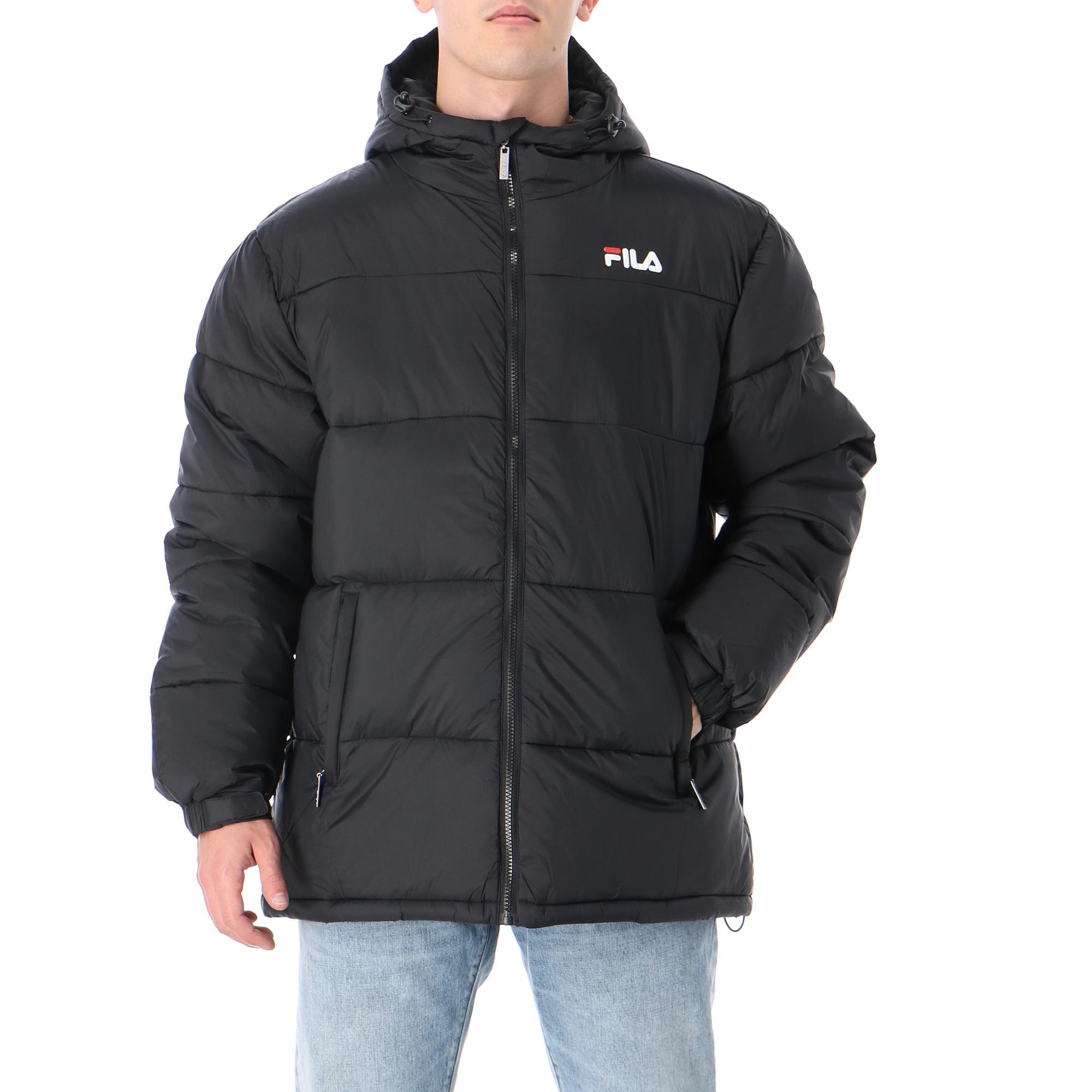 Fila Scooter Puffer Jacket Black