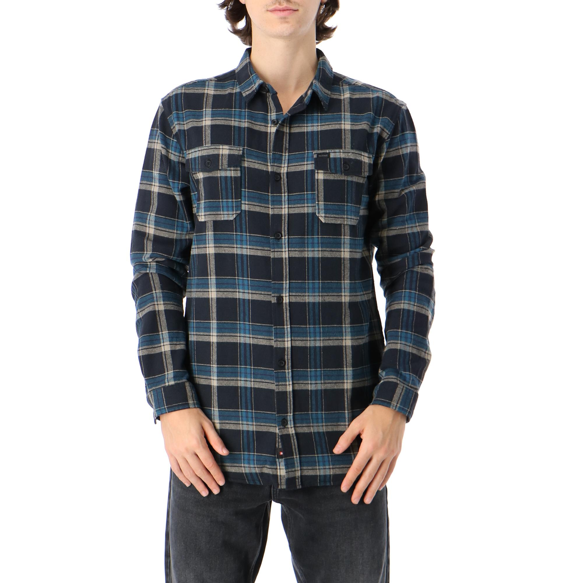 Globe Flannigan Ls Shirt WASHED BLACK